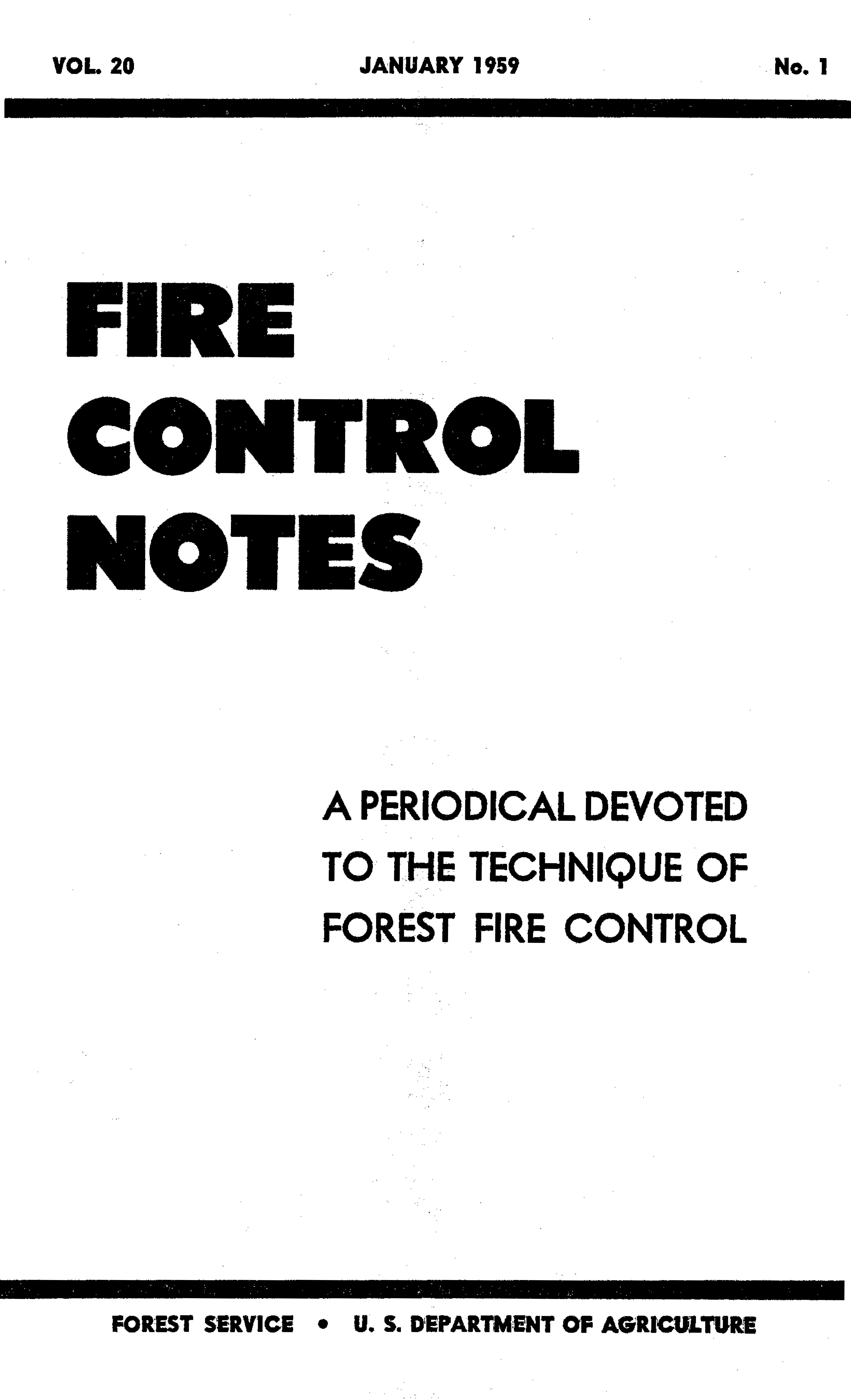 Cover of Fire Management Today Volume 20, Issue 01