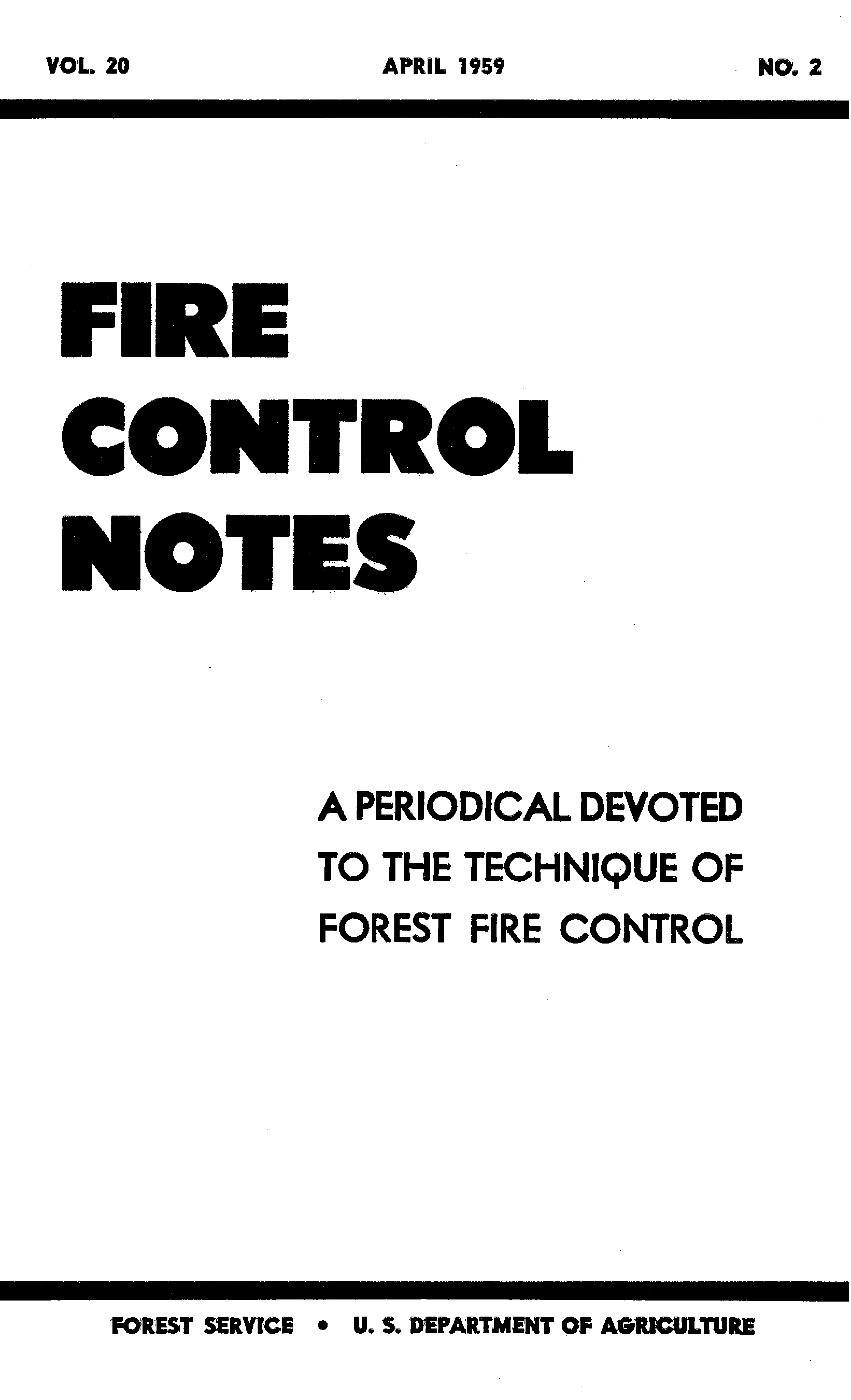 Cover of Fire Management Today Volume 20, Issue 02