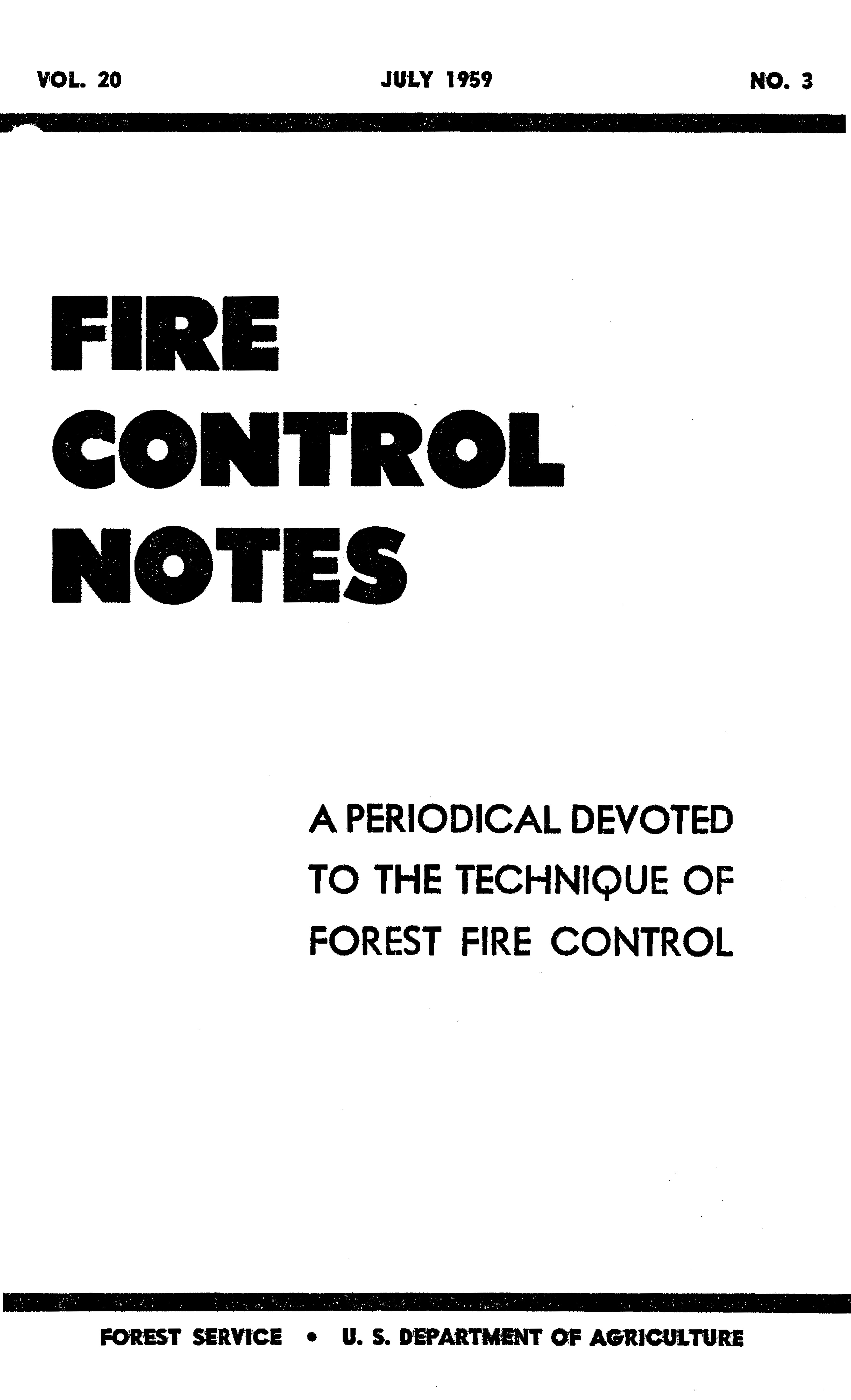 Cover of Fire Management Today Volume 20, Issue 03
