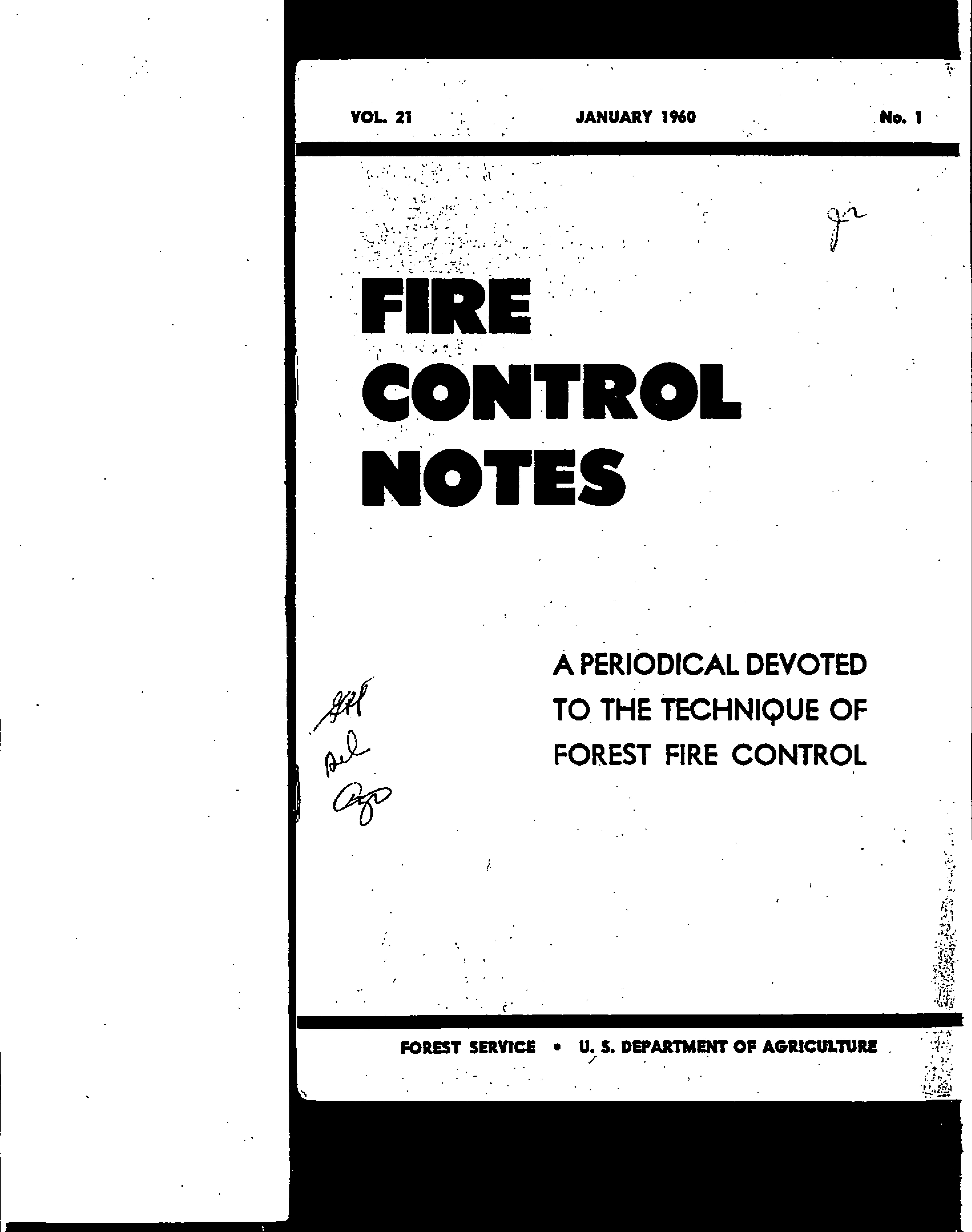 Cover of Fire Management Today Volume 21, Issue 01