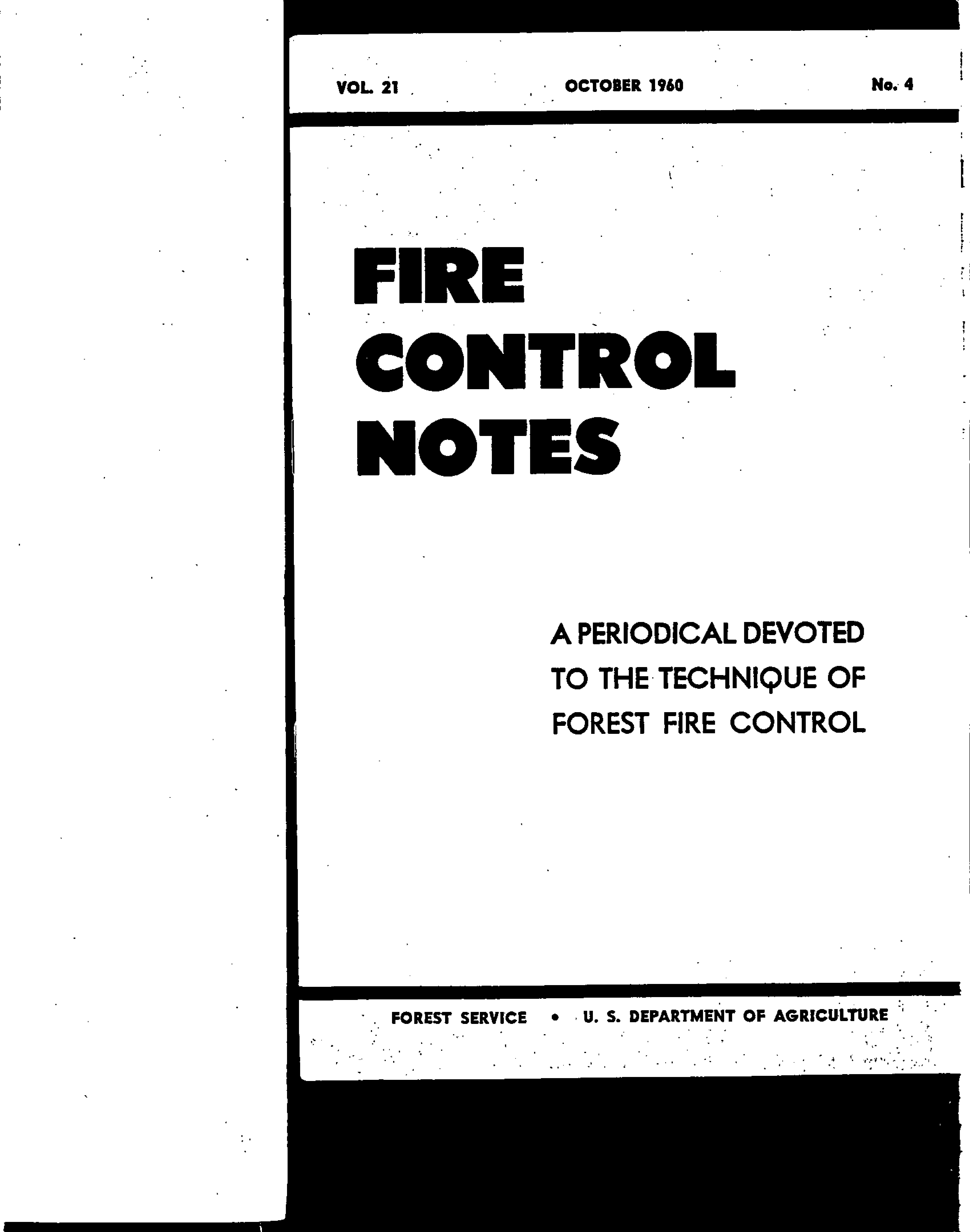 Cover of Fire Management Today Volume 21, Issue 04