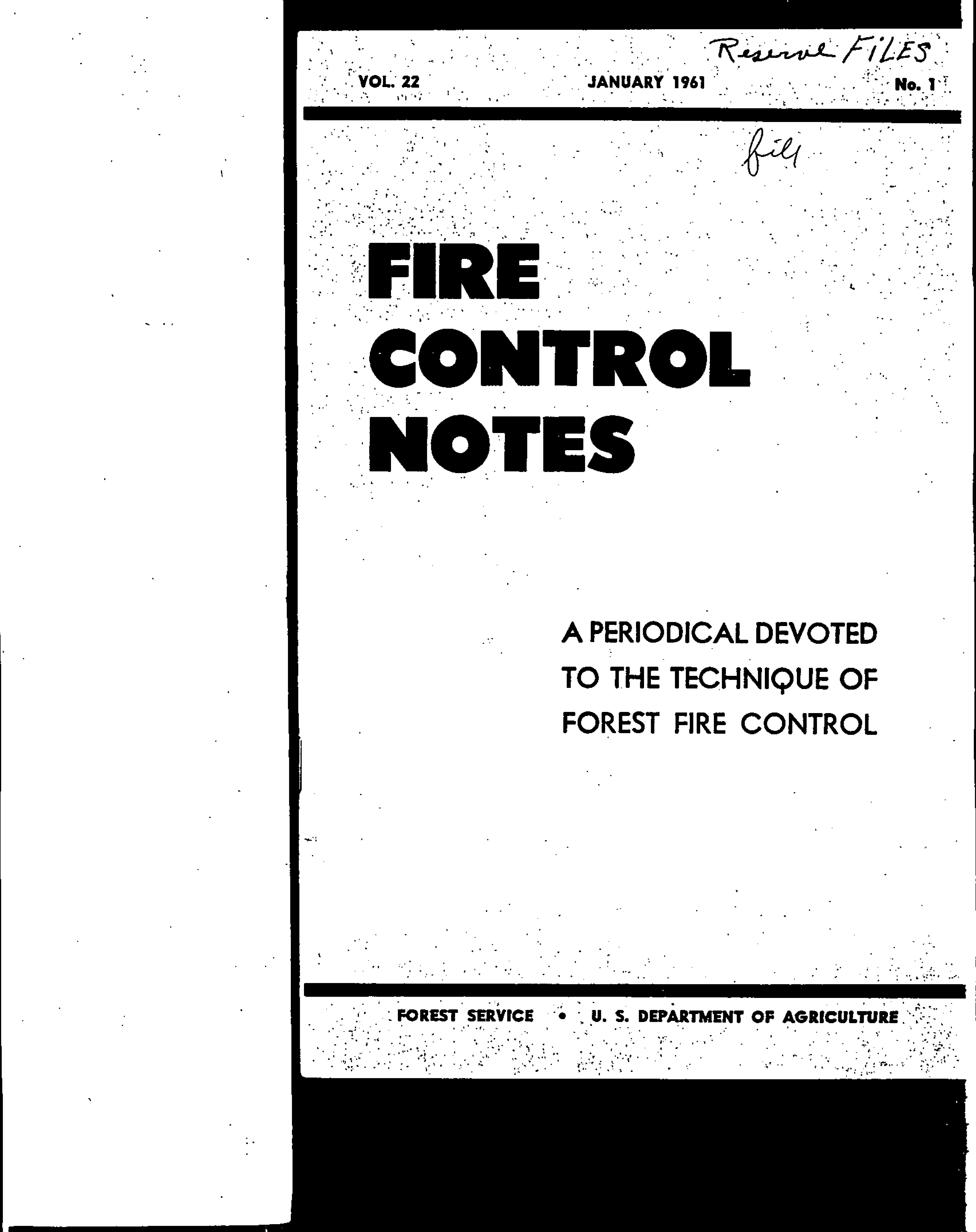 Cover of Fire Management Today Volume 22, Issue 01