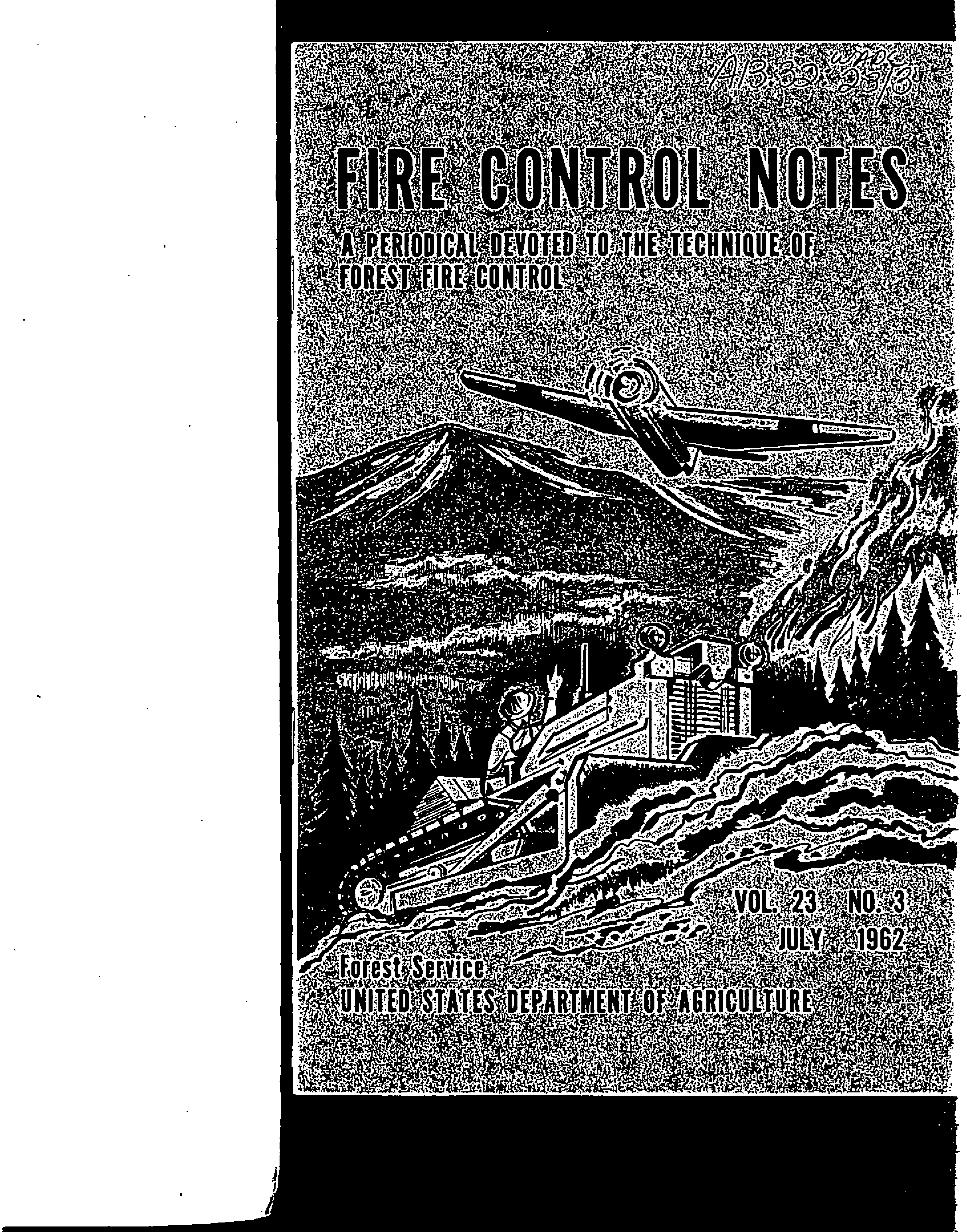 Cover of Fire Management Today Volume 23, Issue 03