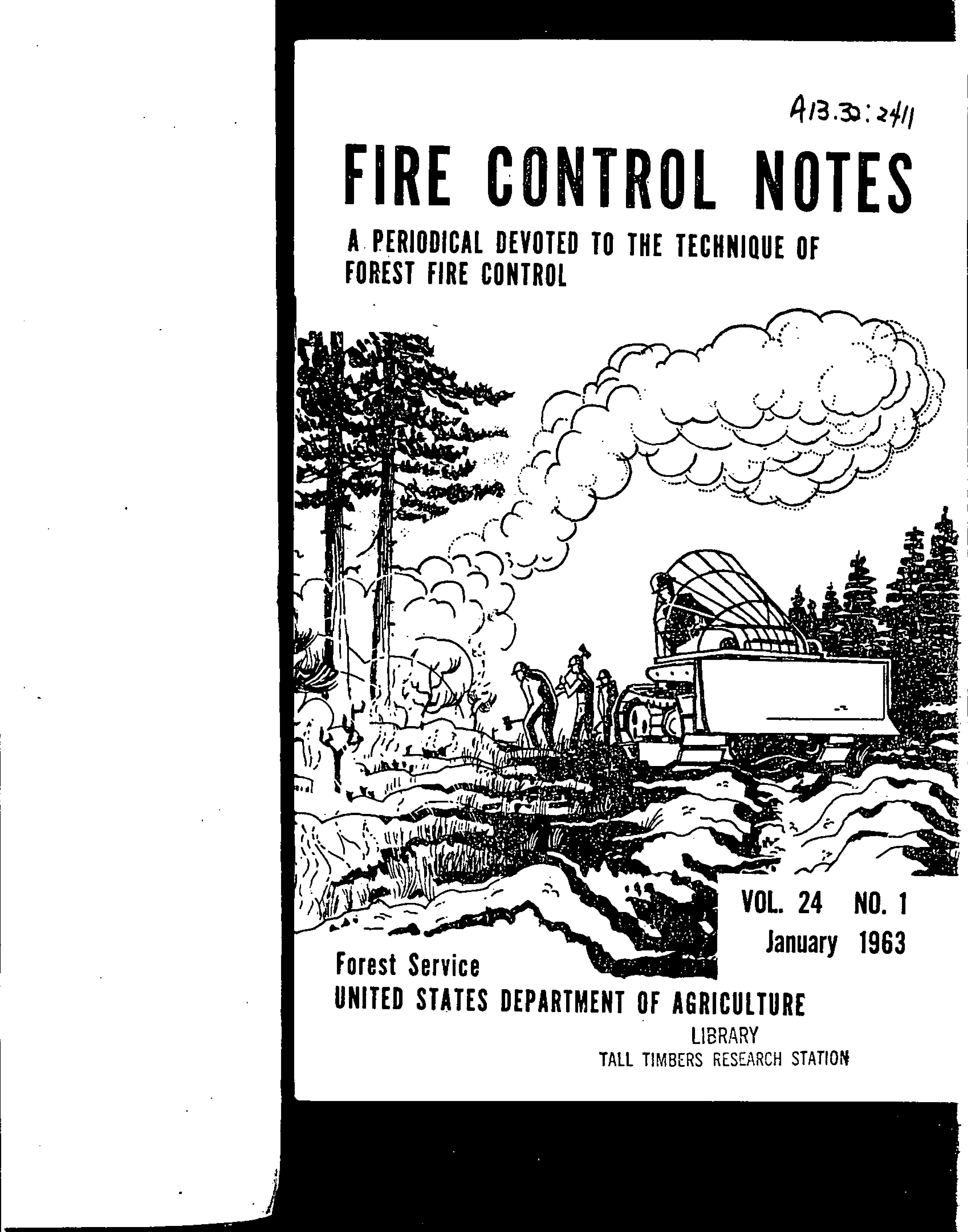 Cover of Fire Management Today Volume 24, Issue 01
