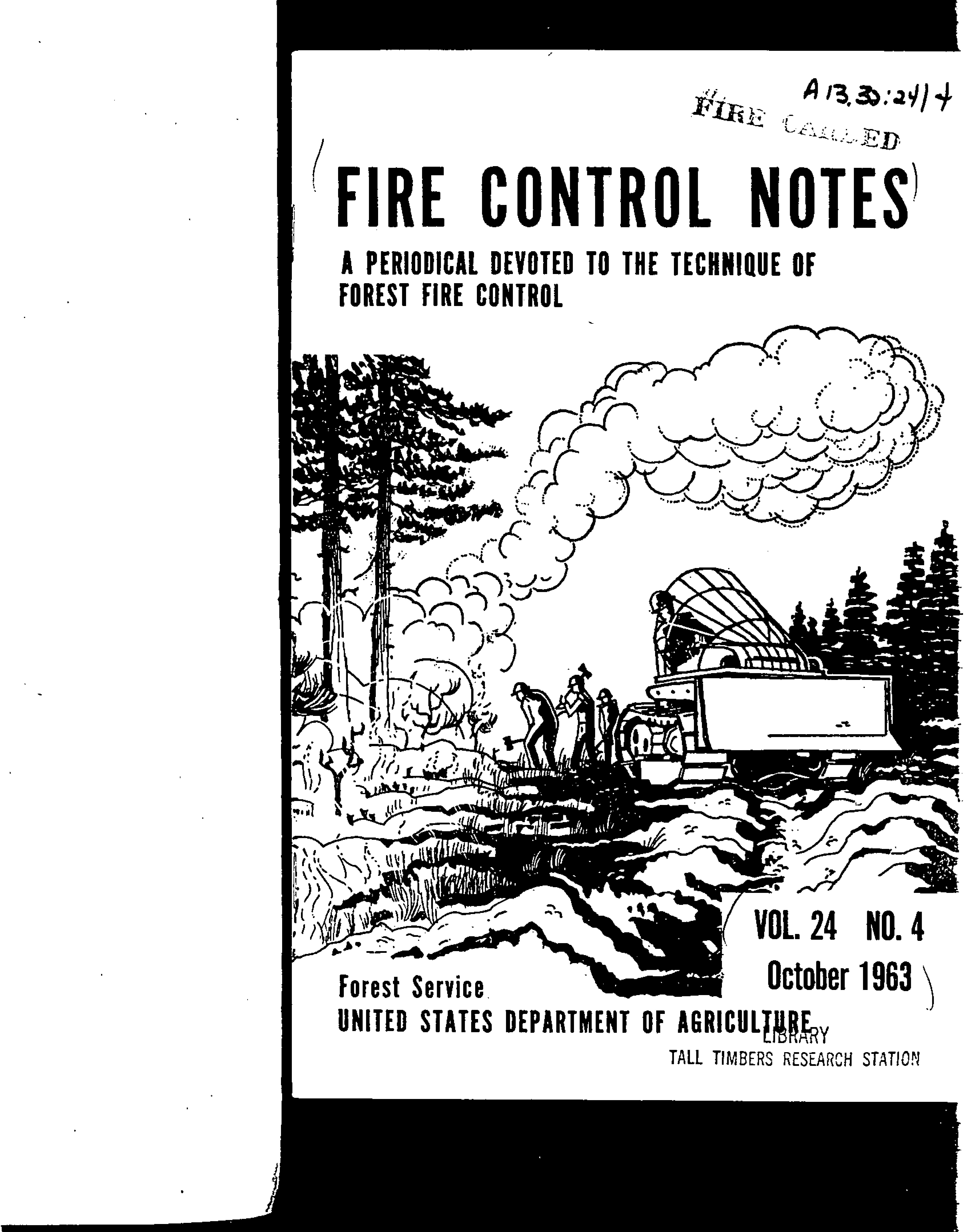 Cover of Fire Management Today Volume 24, Issue 04