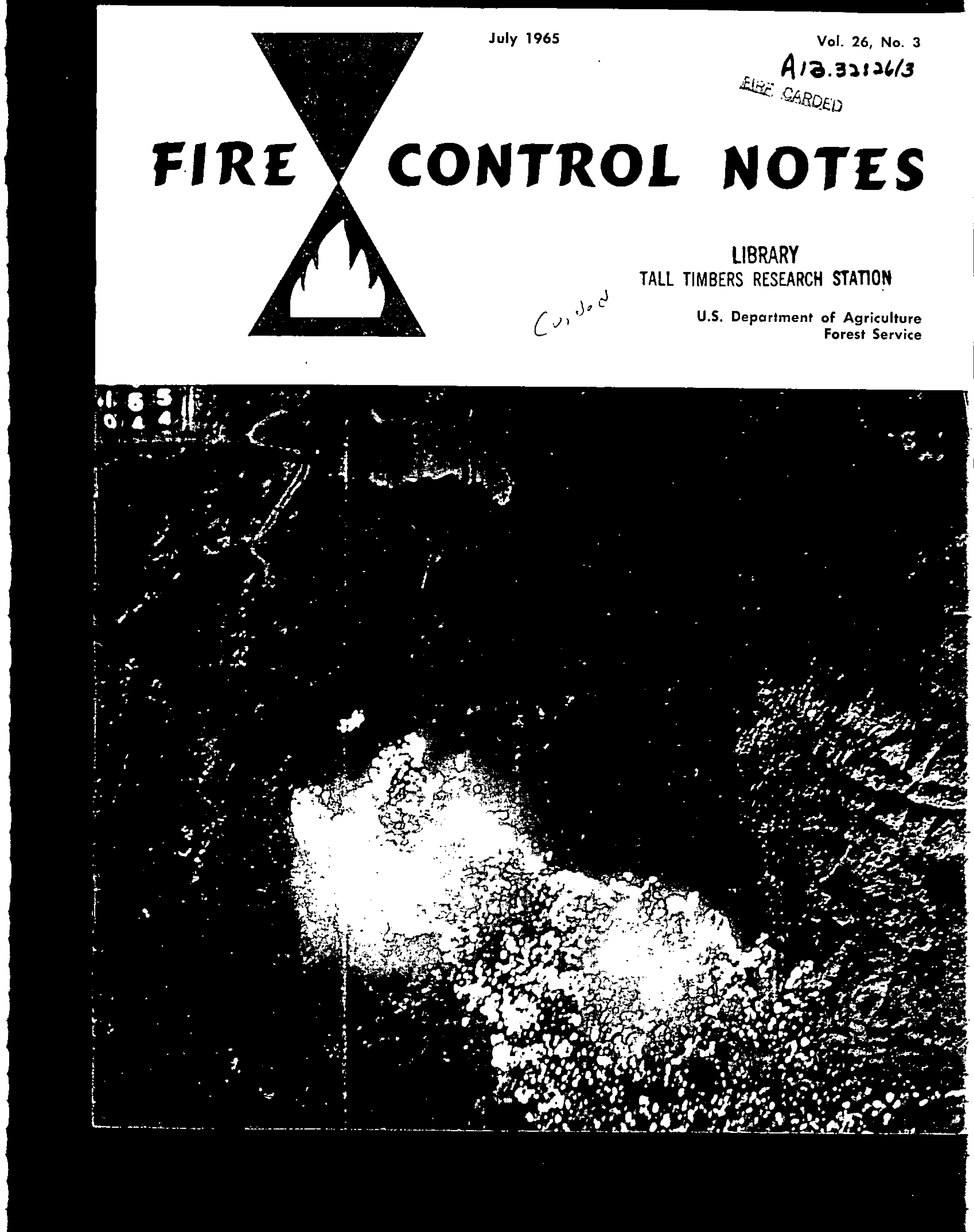 Cover of Fire Management Today Volume 26, Issue 03