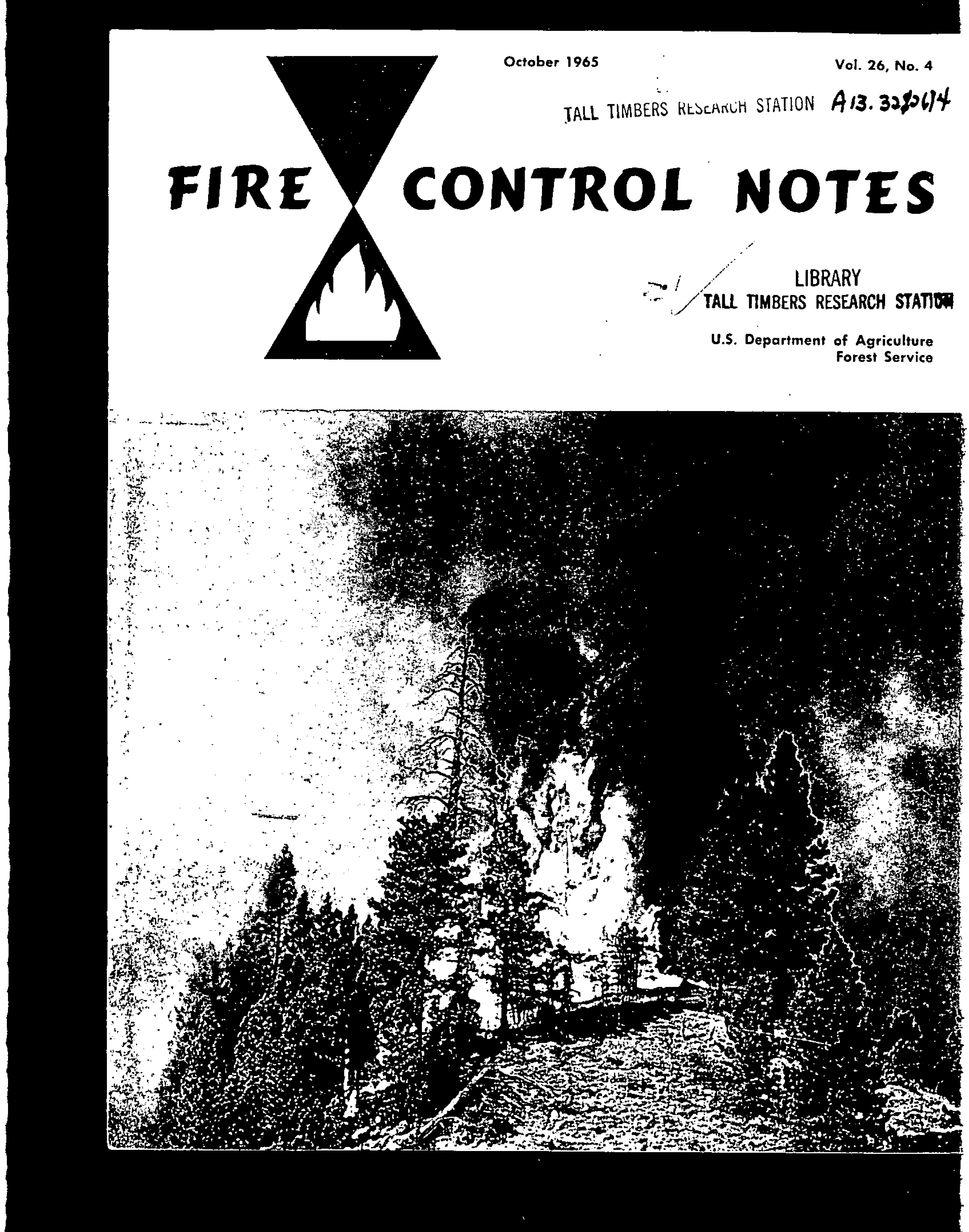 Cover of Fire Management Today Volume 26, Issue 04