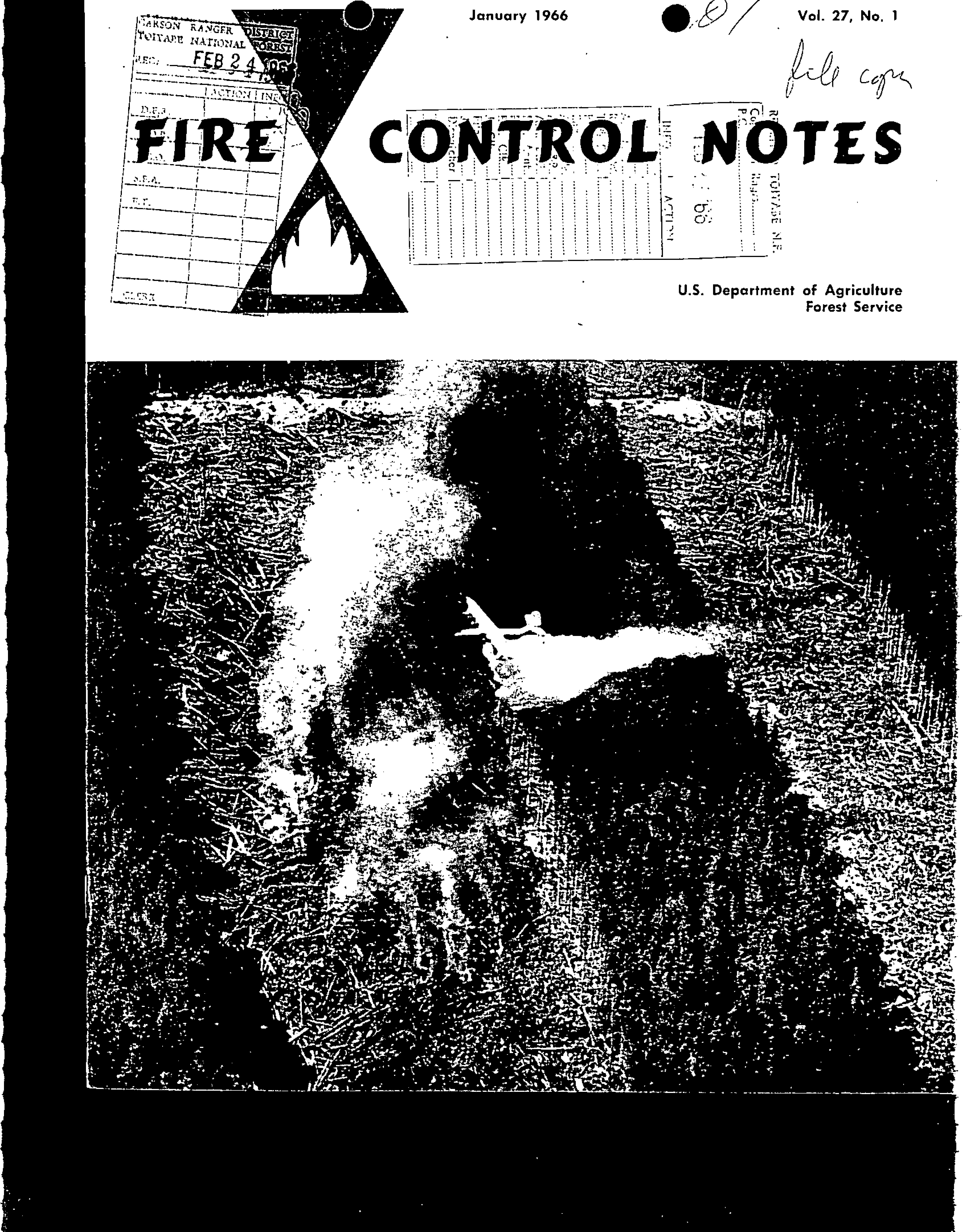 Cover of Fire Management Today Volume 27, Issue 01