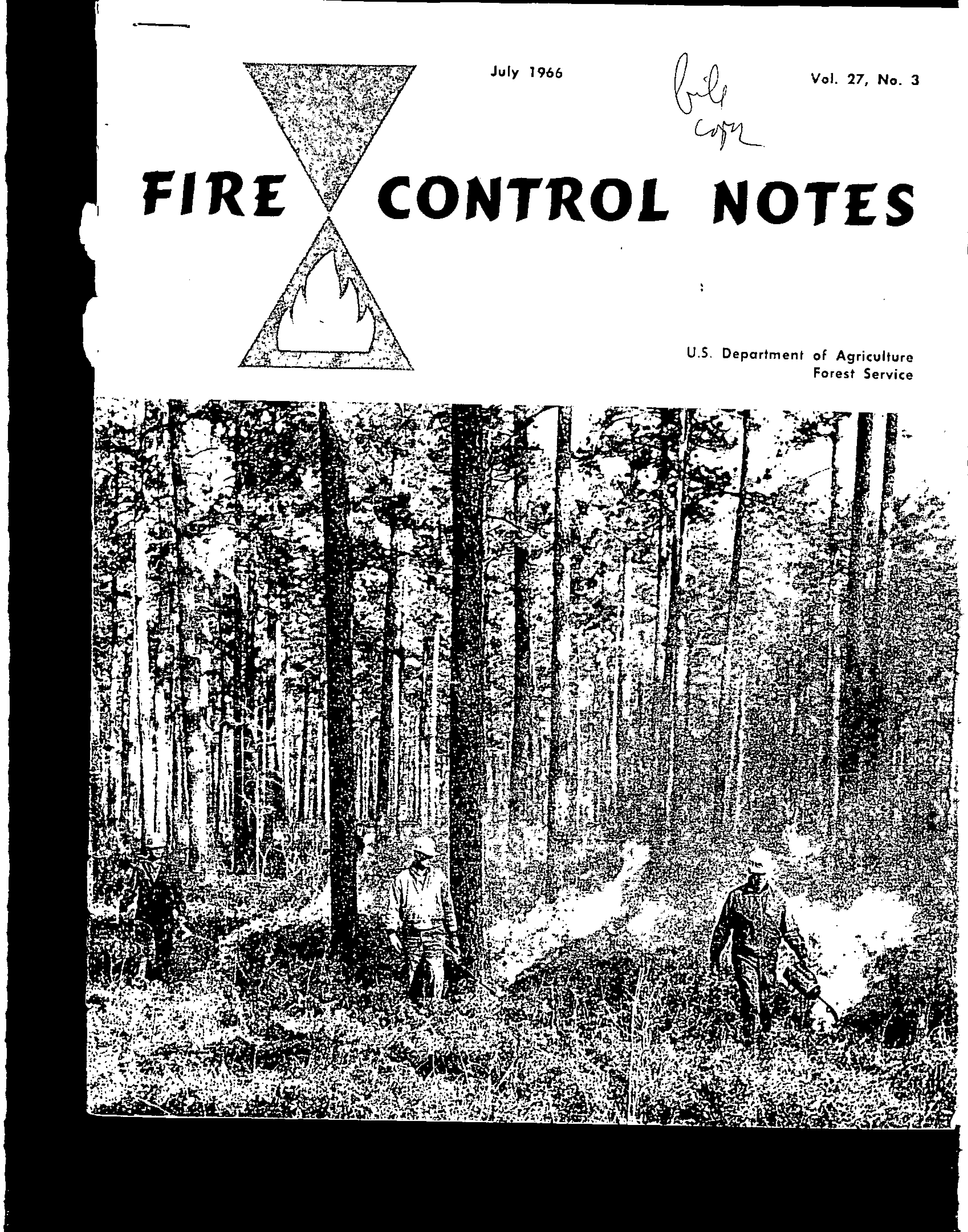 Cover of Fire Management Today Volume 27, Issue 03