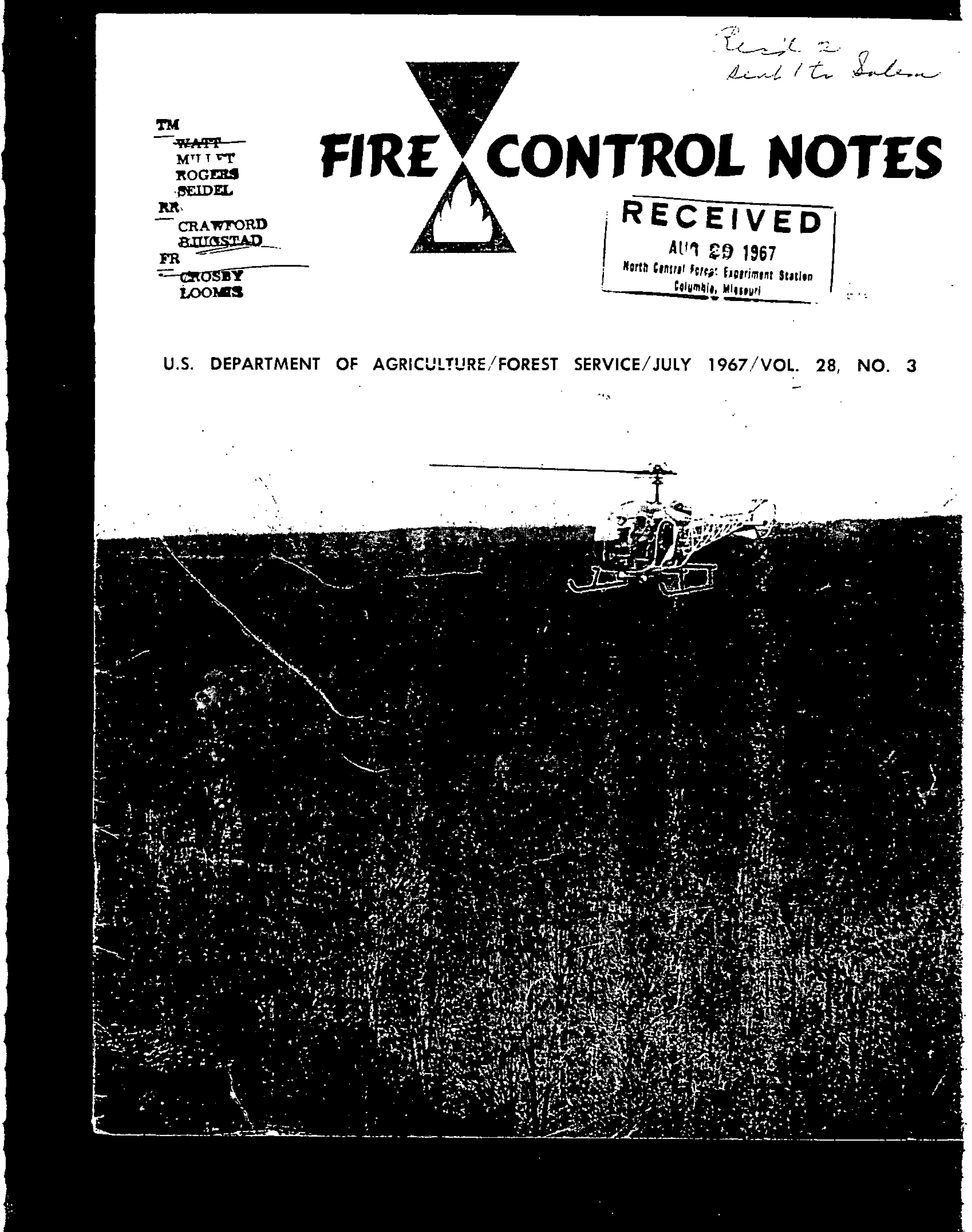 Cover of Fire Management Today Volume 28, Issue 03