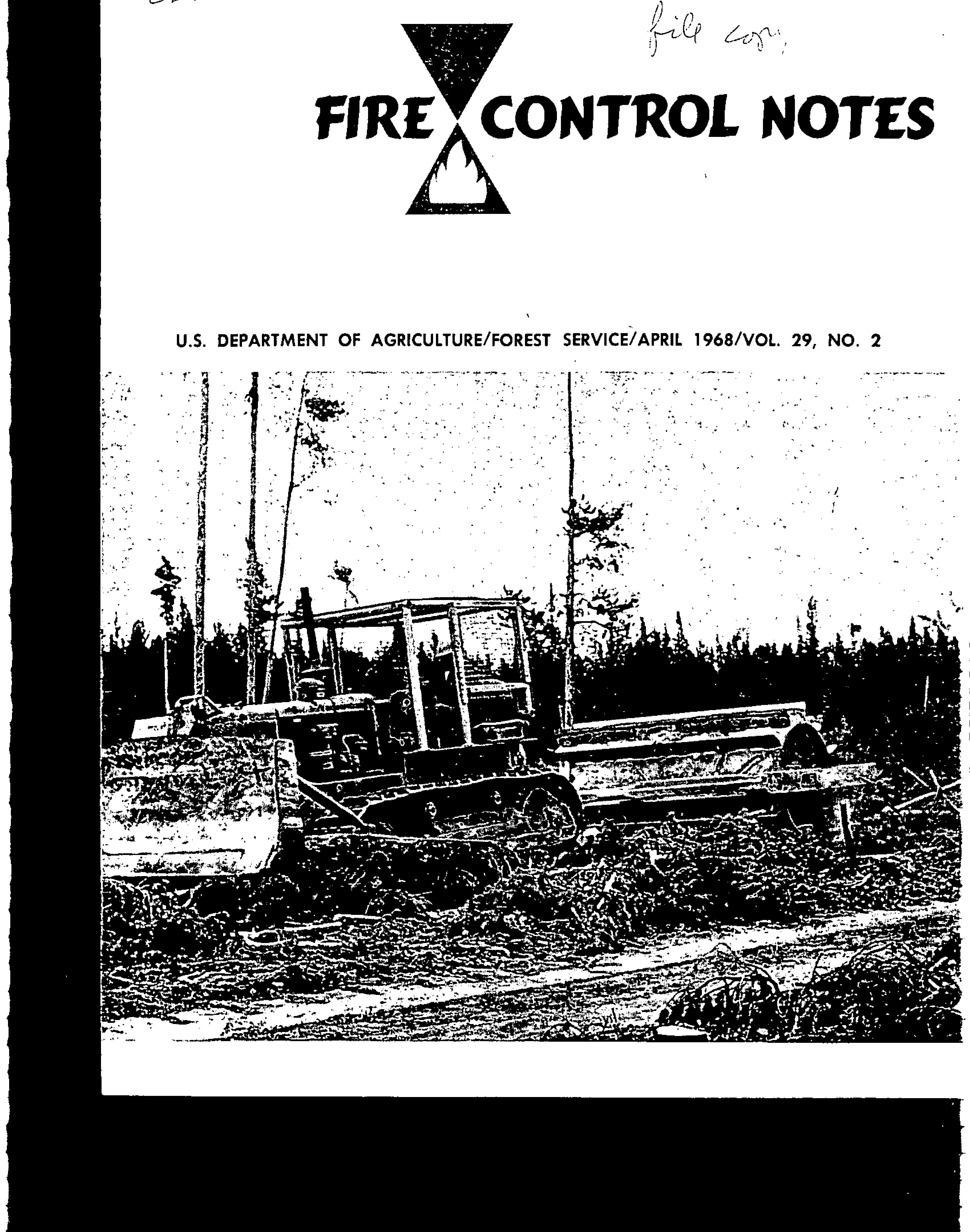 Cover of Fire Management Today Volume 29, Issue 02