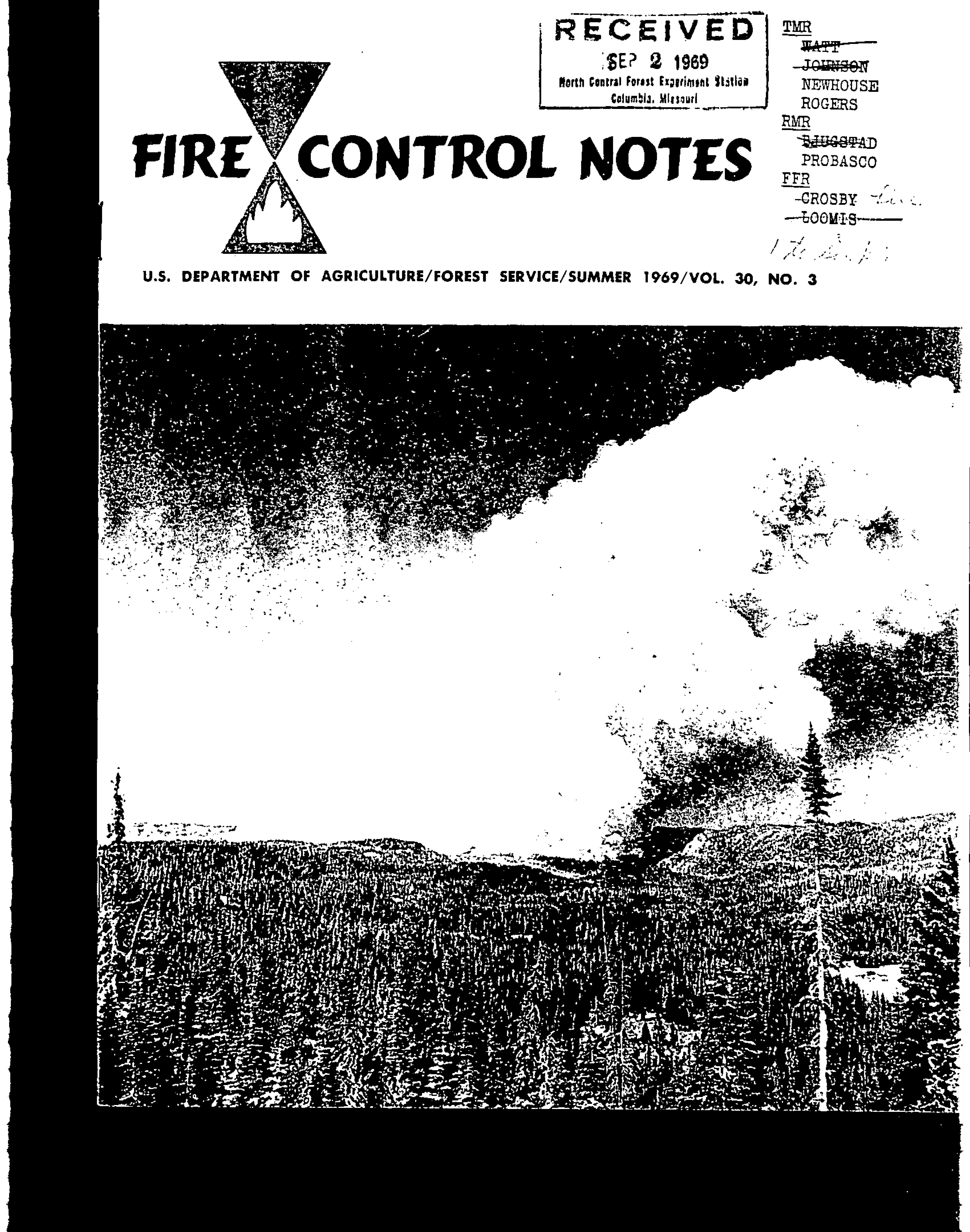 Cover of Fire Management Today Volume 30, Issue 03