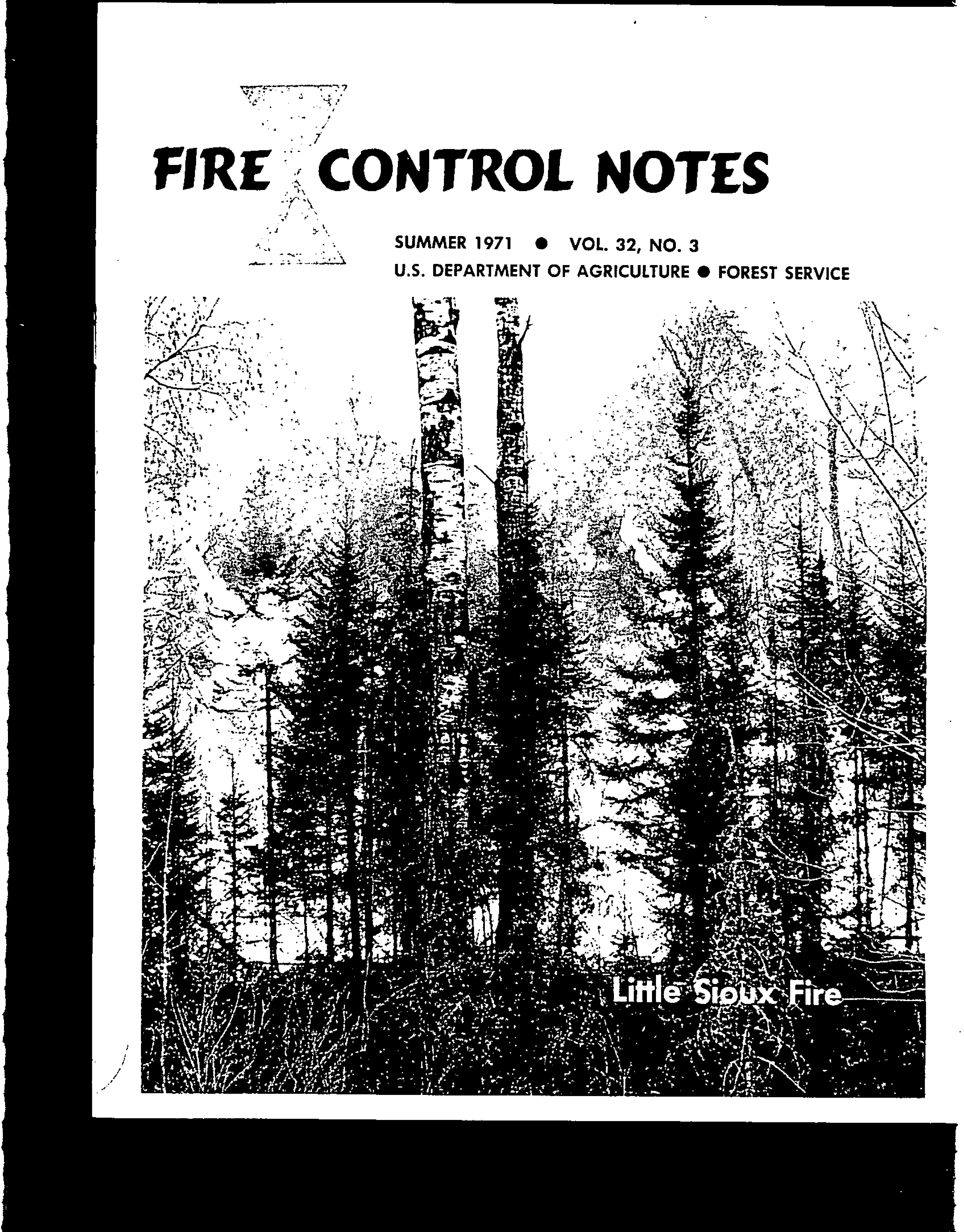 Cover of Fire Management Today Volume 32, Issue 03
