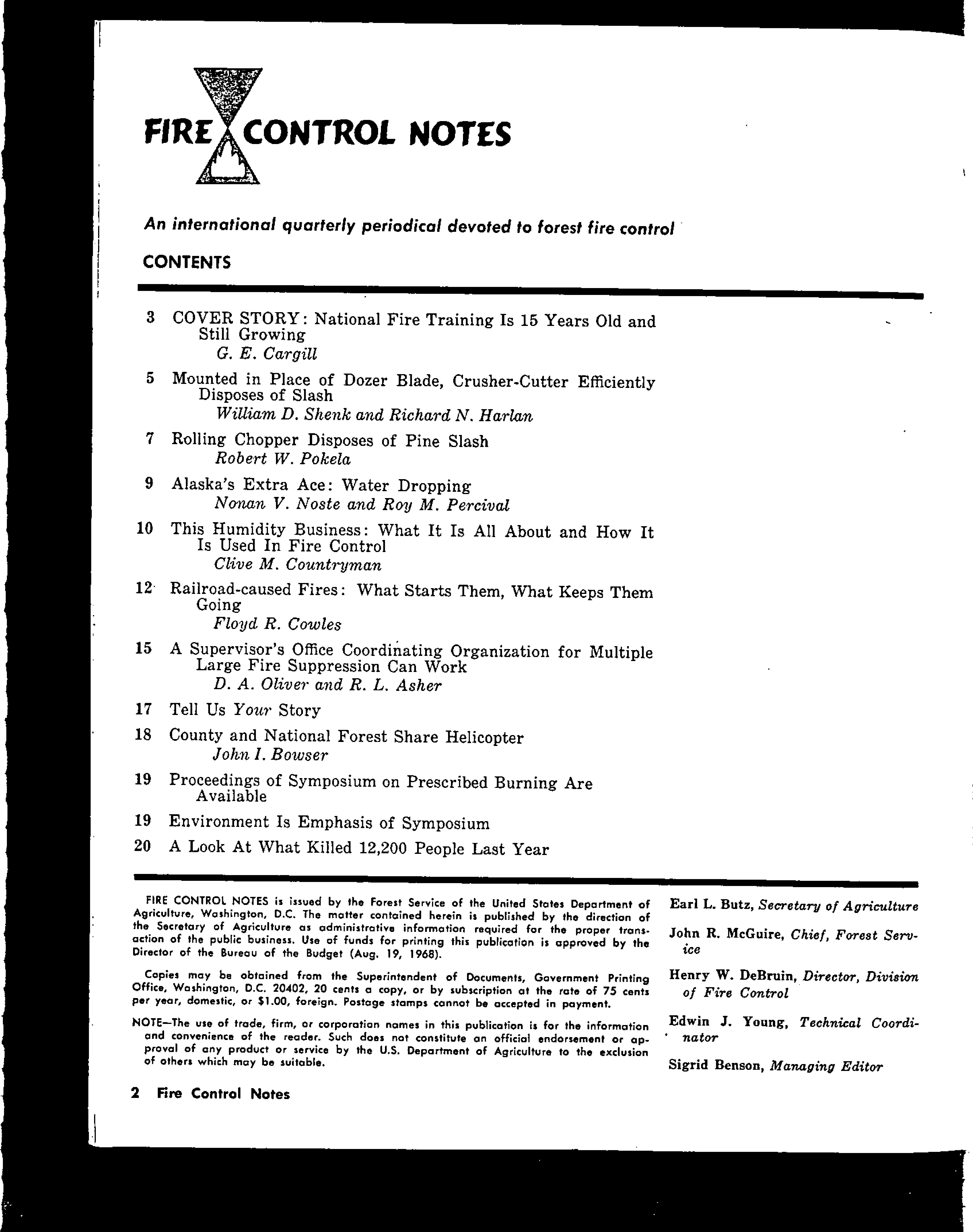Cover of Fire Management Today Volume 33, Issue 02