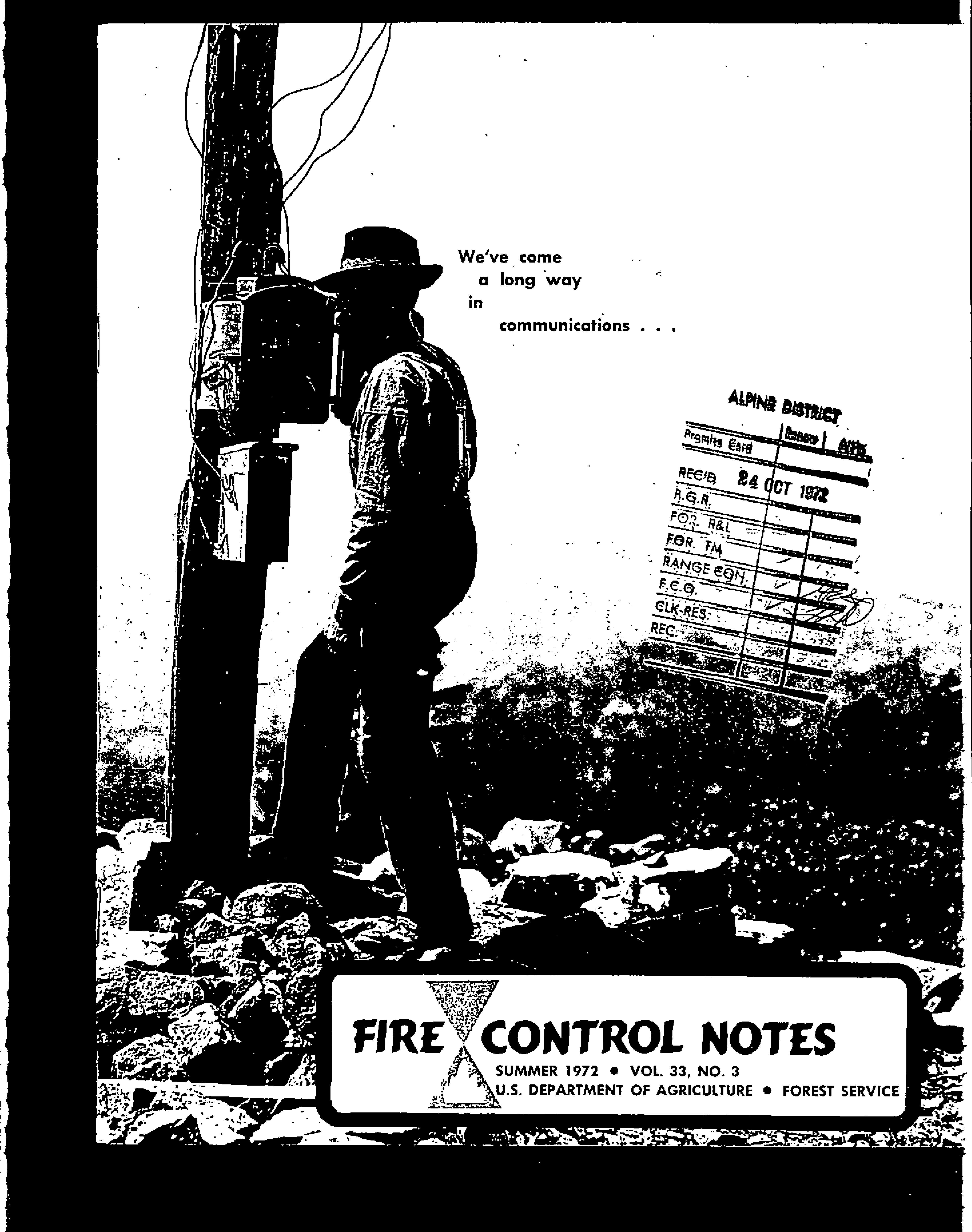 Cover of Fire Management Today Volume 33, Issue 03