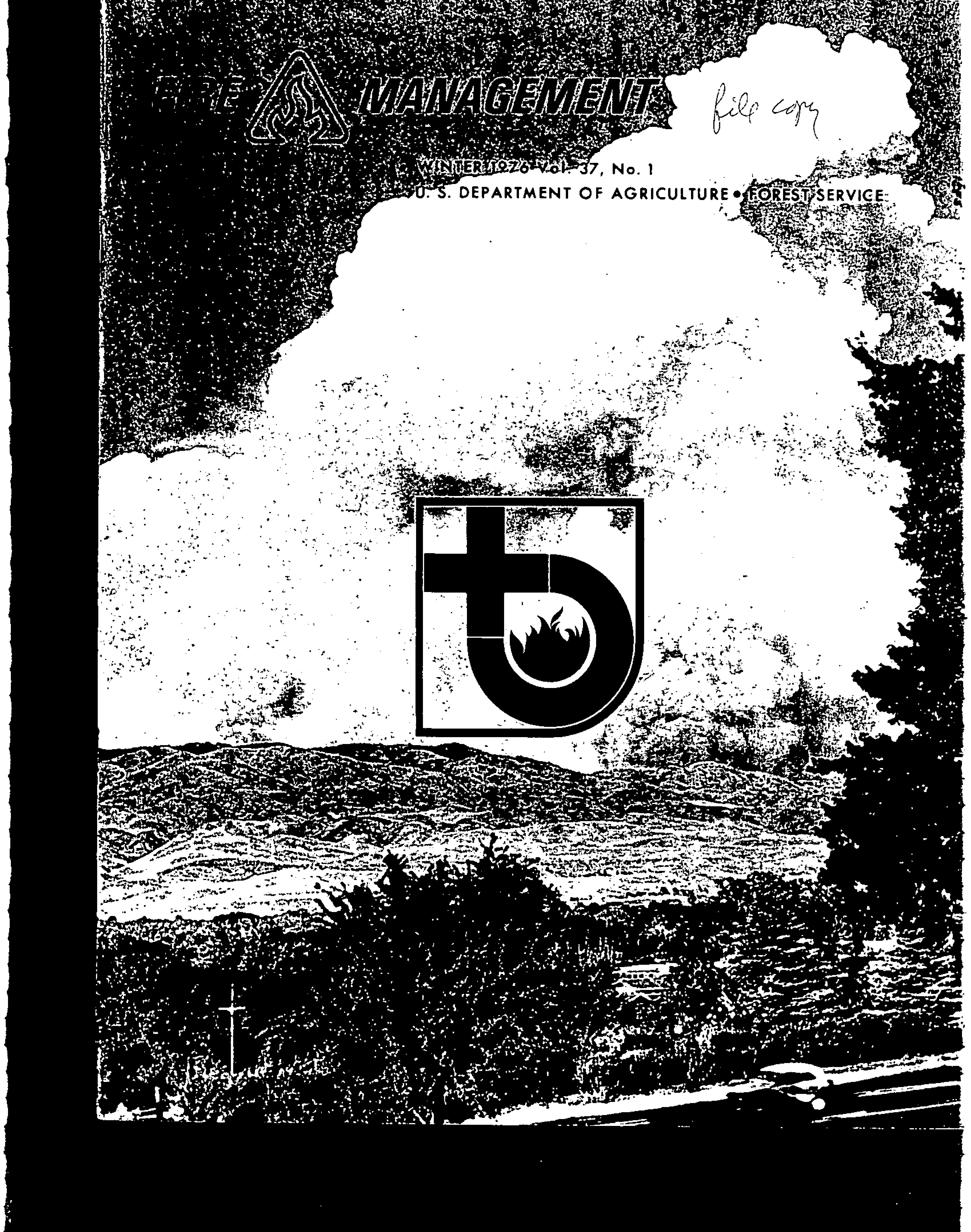 Cover of Fire Management Today Volume 37, Issue 01