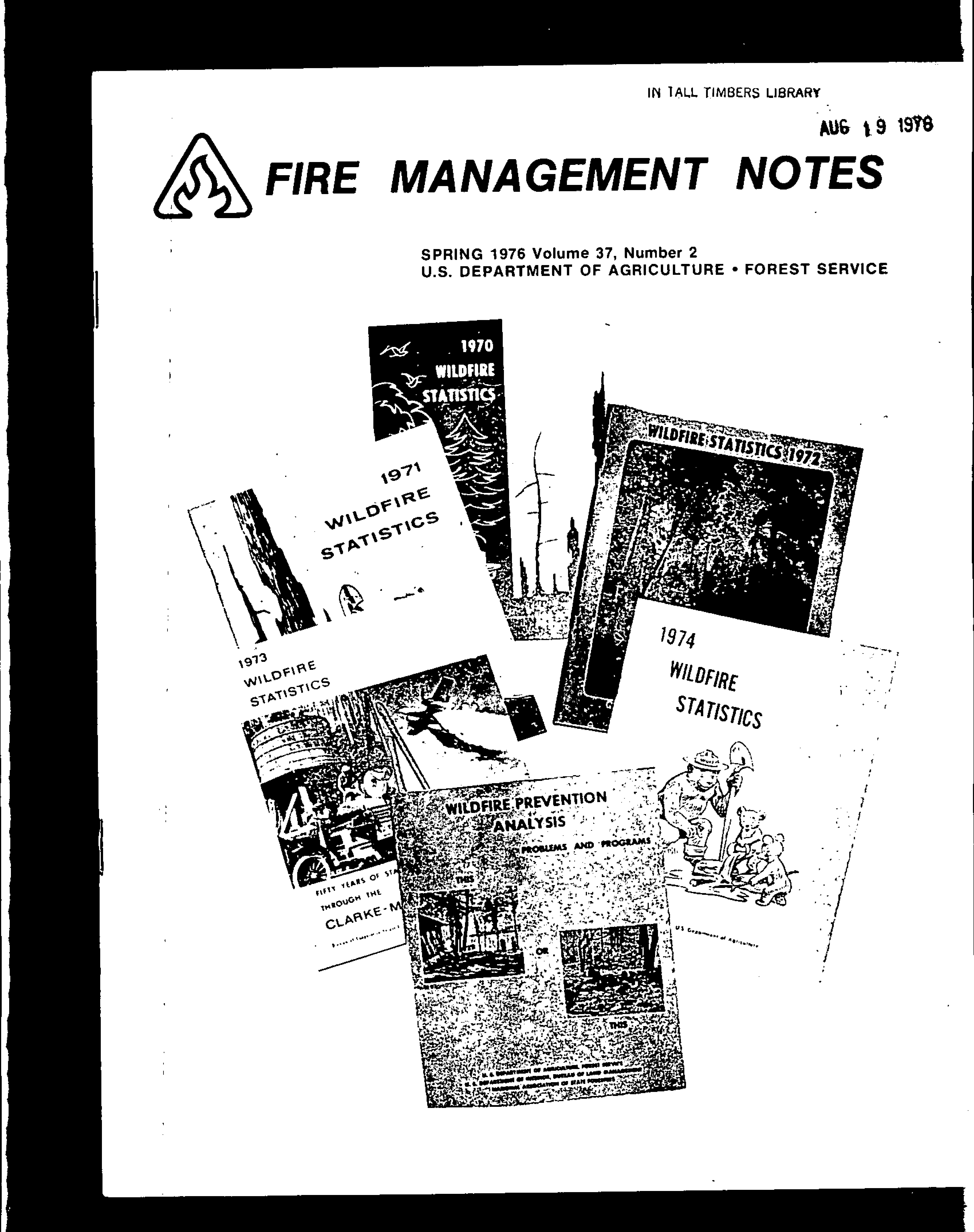 Cover of Fire Management Today Volume 37, Issue 02