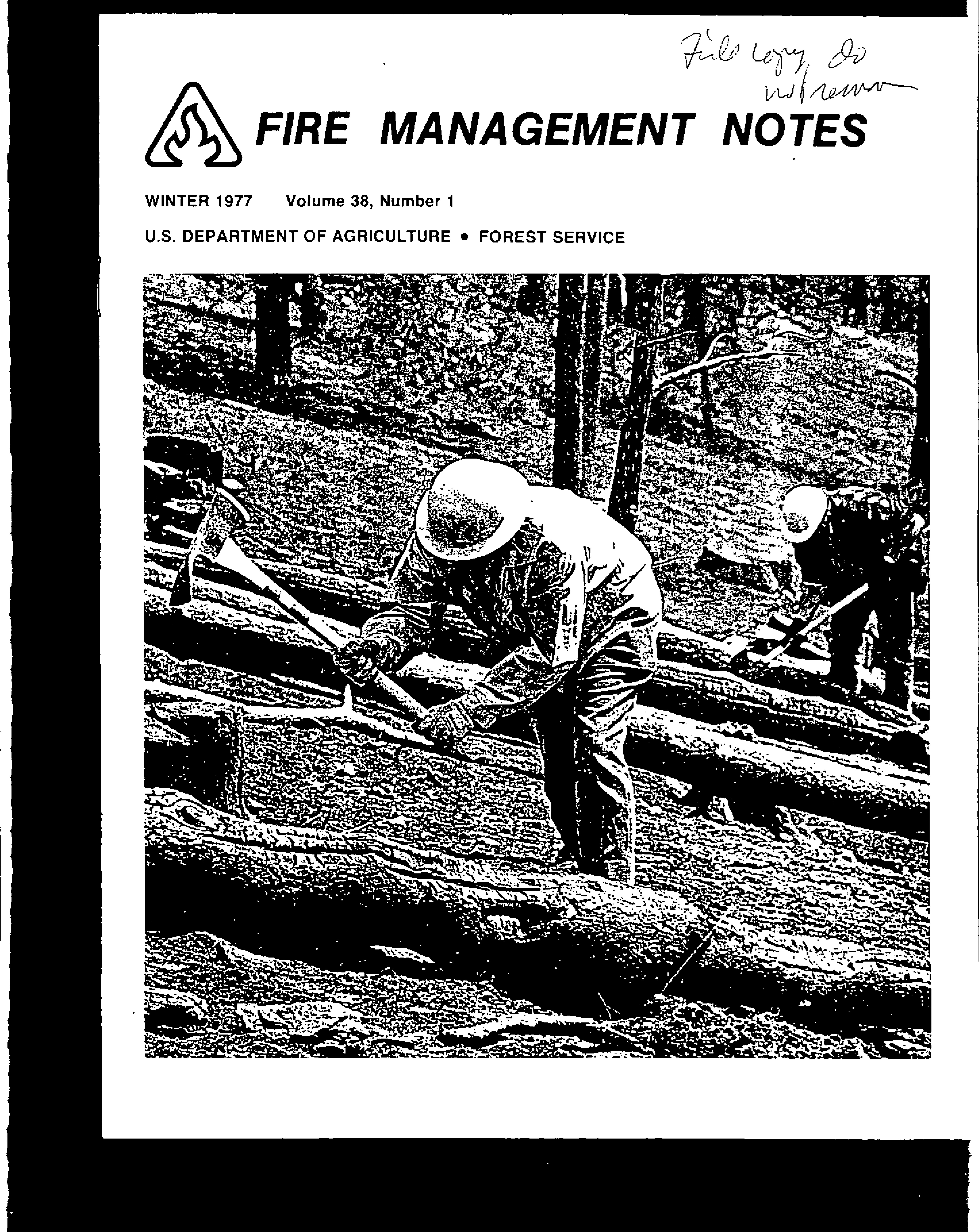 Cover of Fire Management Today Volume 38, Issue 01