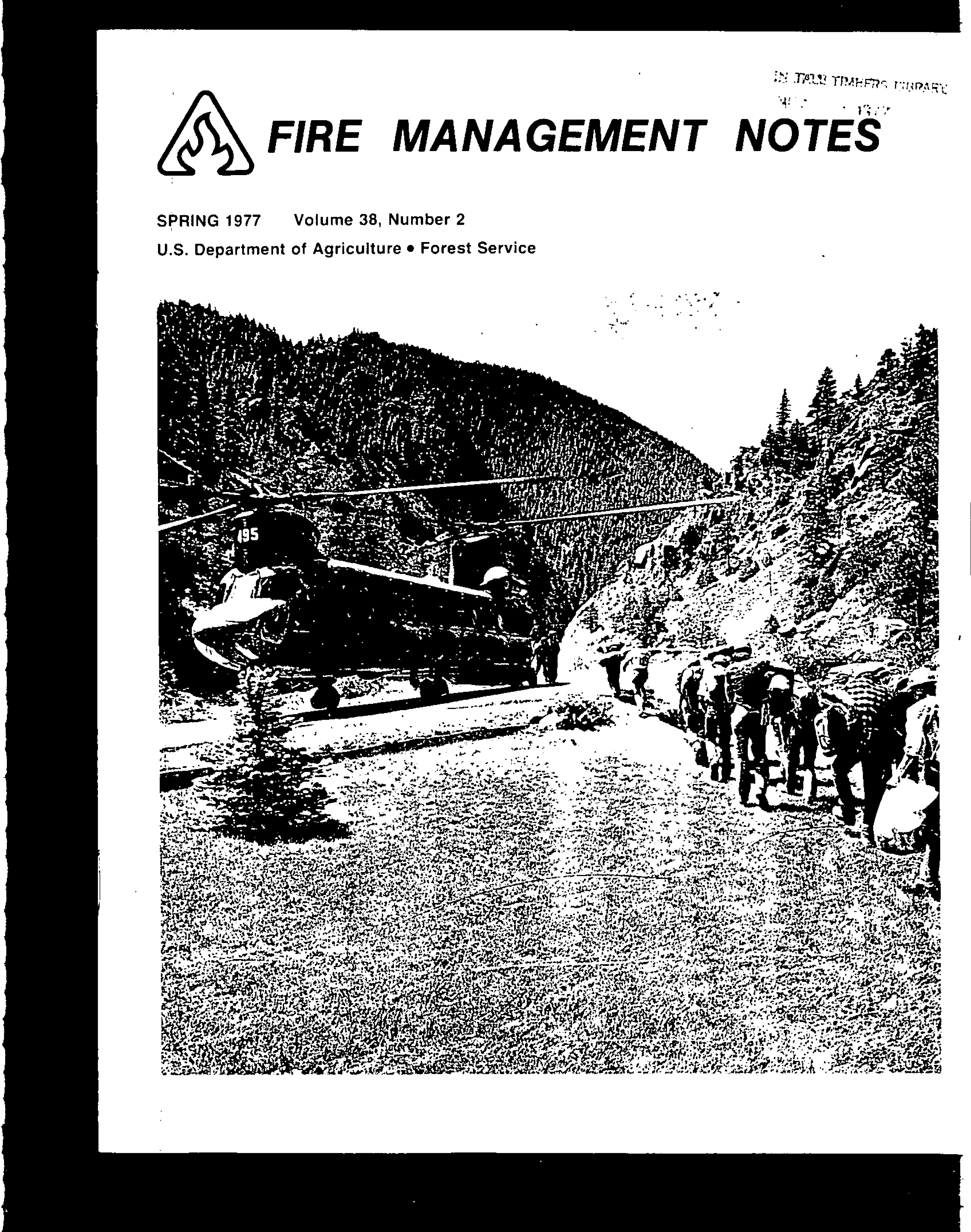 Cover of Fire Management Today Volume 38, Issue 02