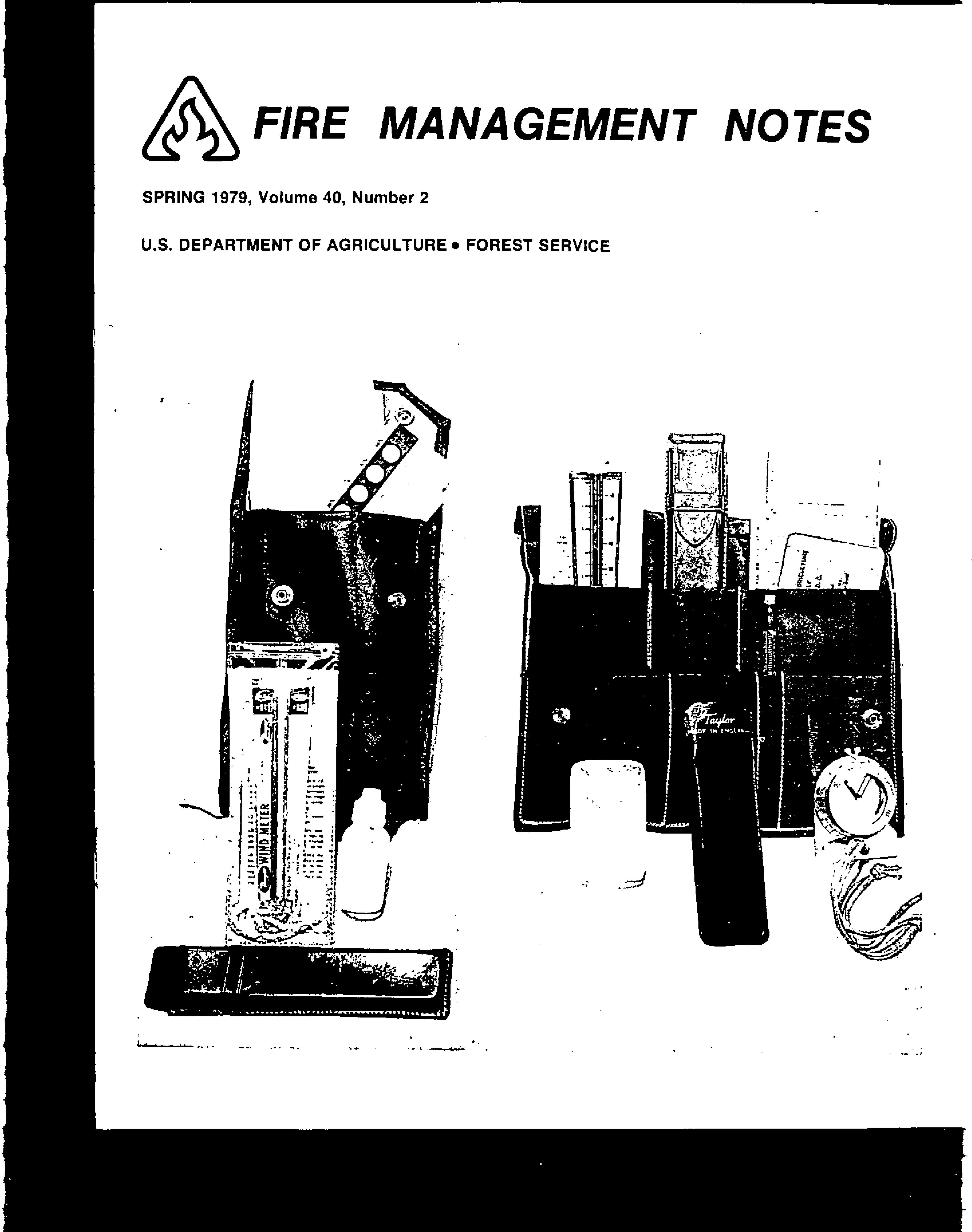 Cover of Fire Management Today Volume 40, Issue 02