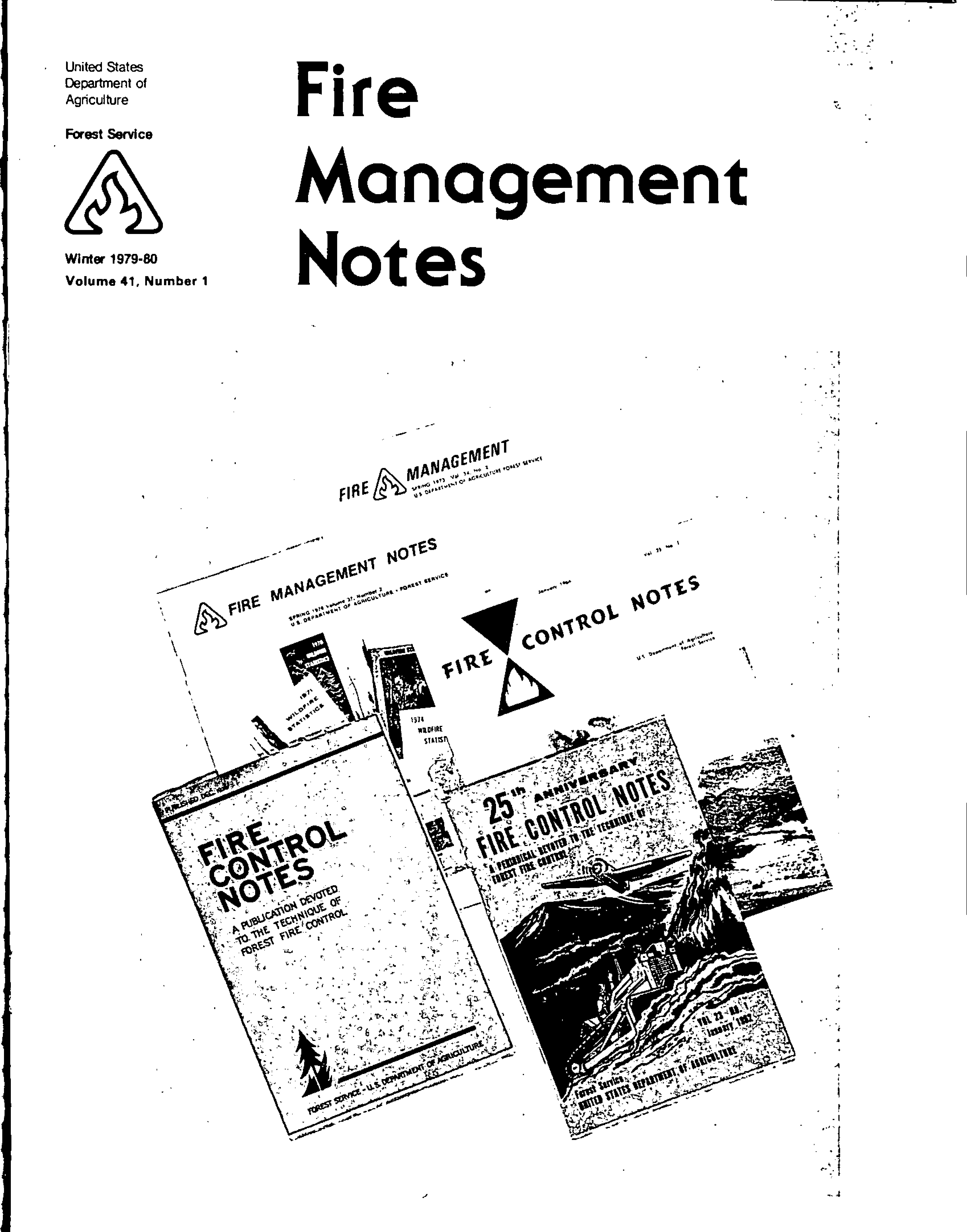 Cover of Fire Management Today Volume 41, Issue 01