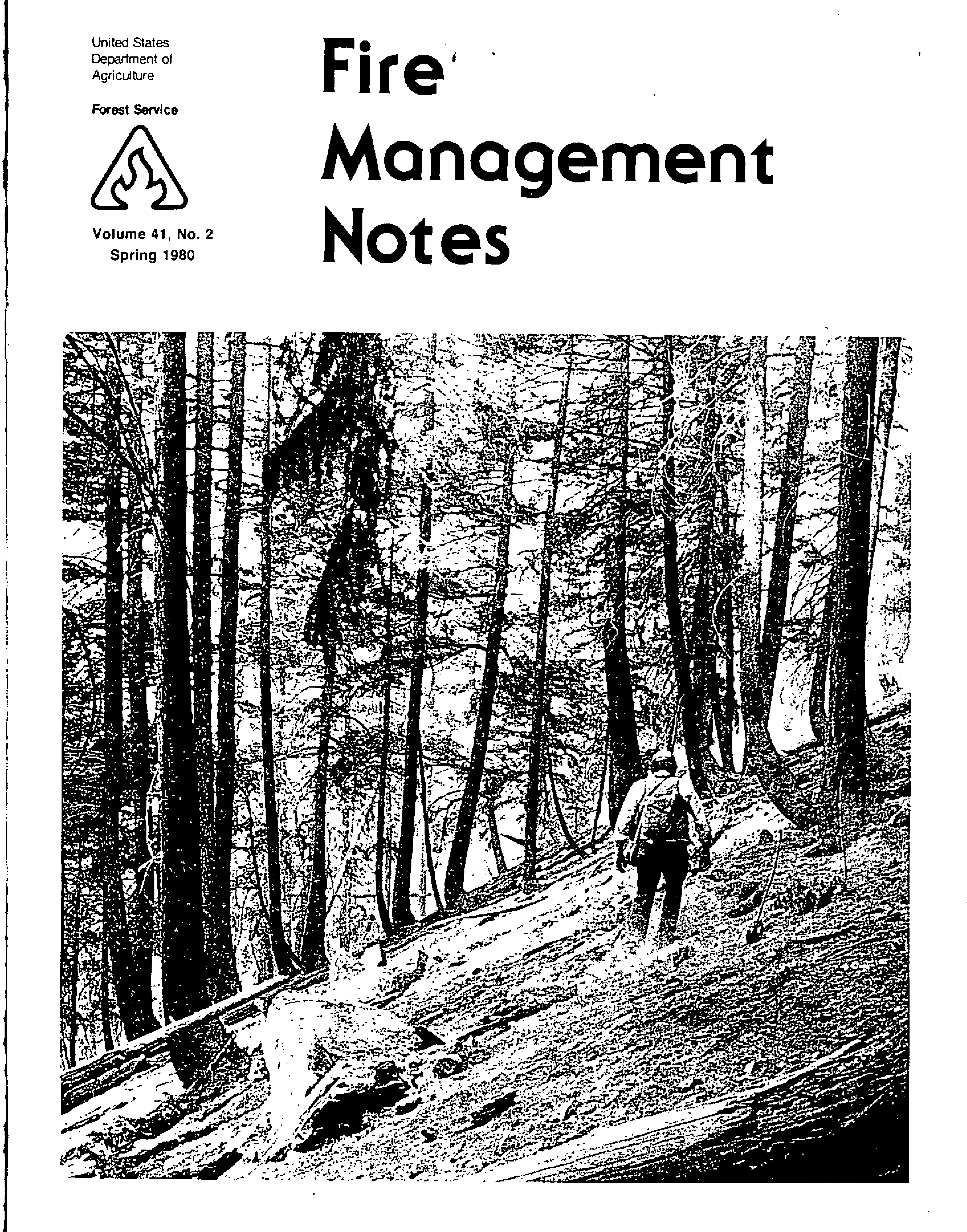 Cover of Fire Management Today Volume 41, Issue 02