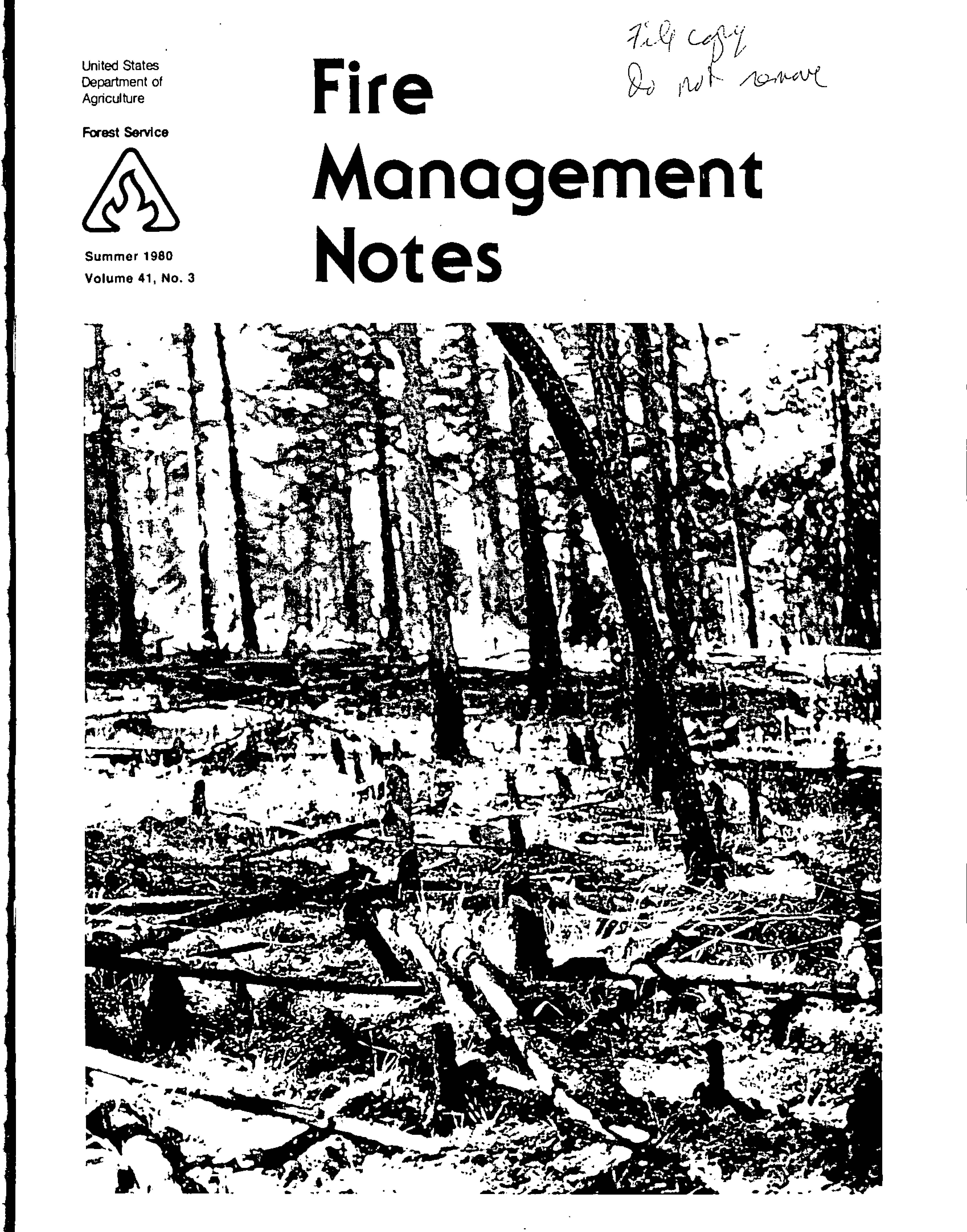 Cover of Fire Management Today Volume 41, Issue 03