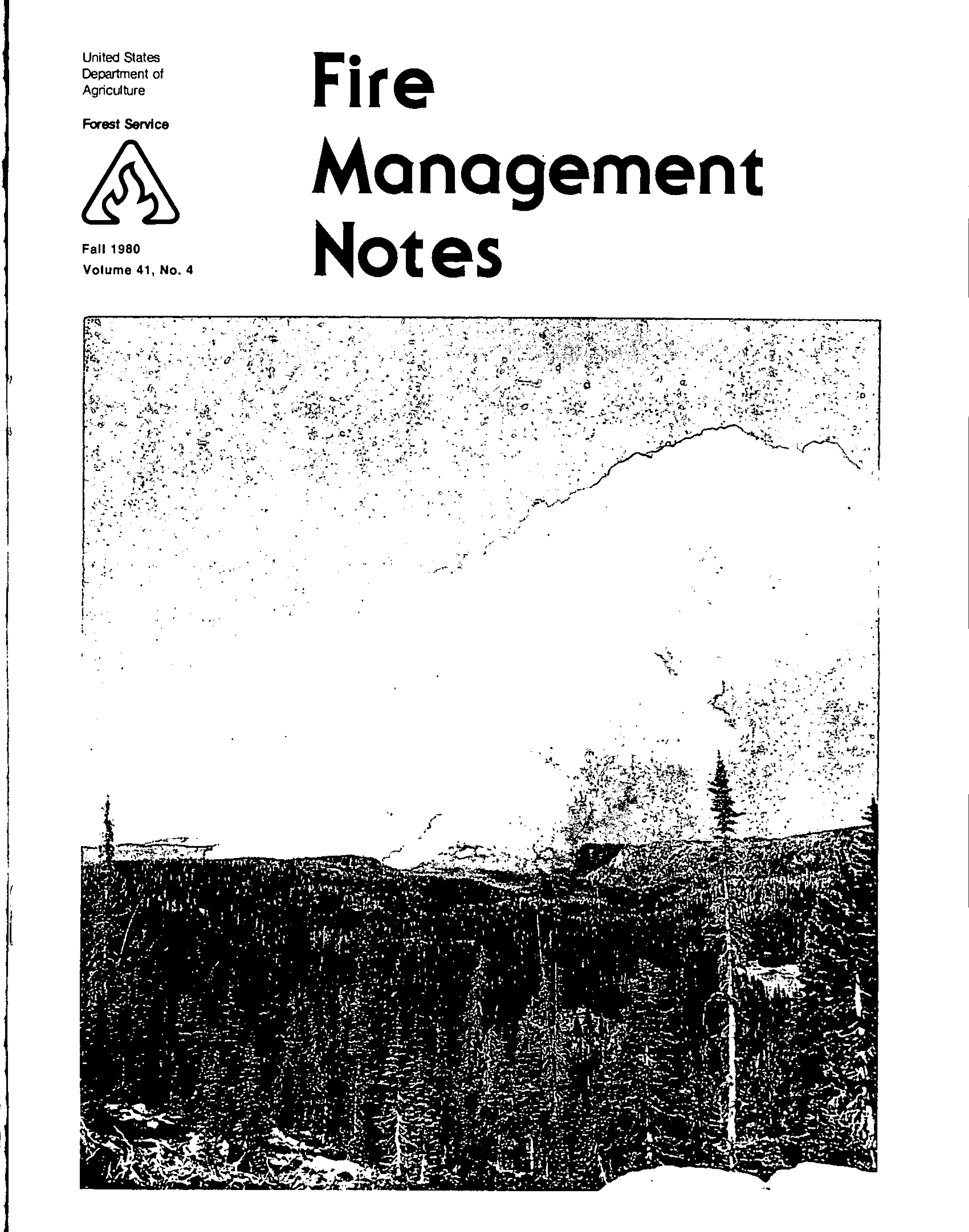 Cover of Fire Management Today Volume 41, Issue 04