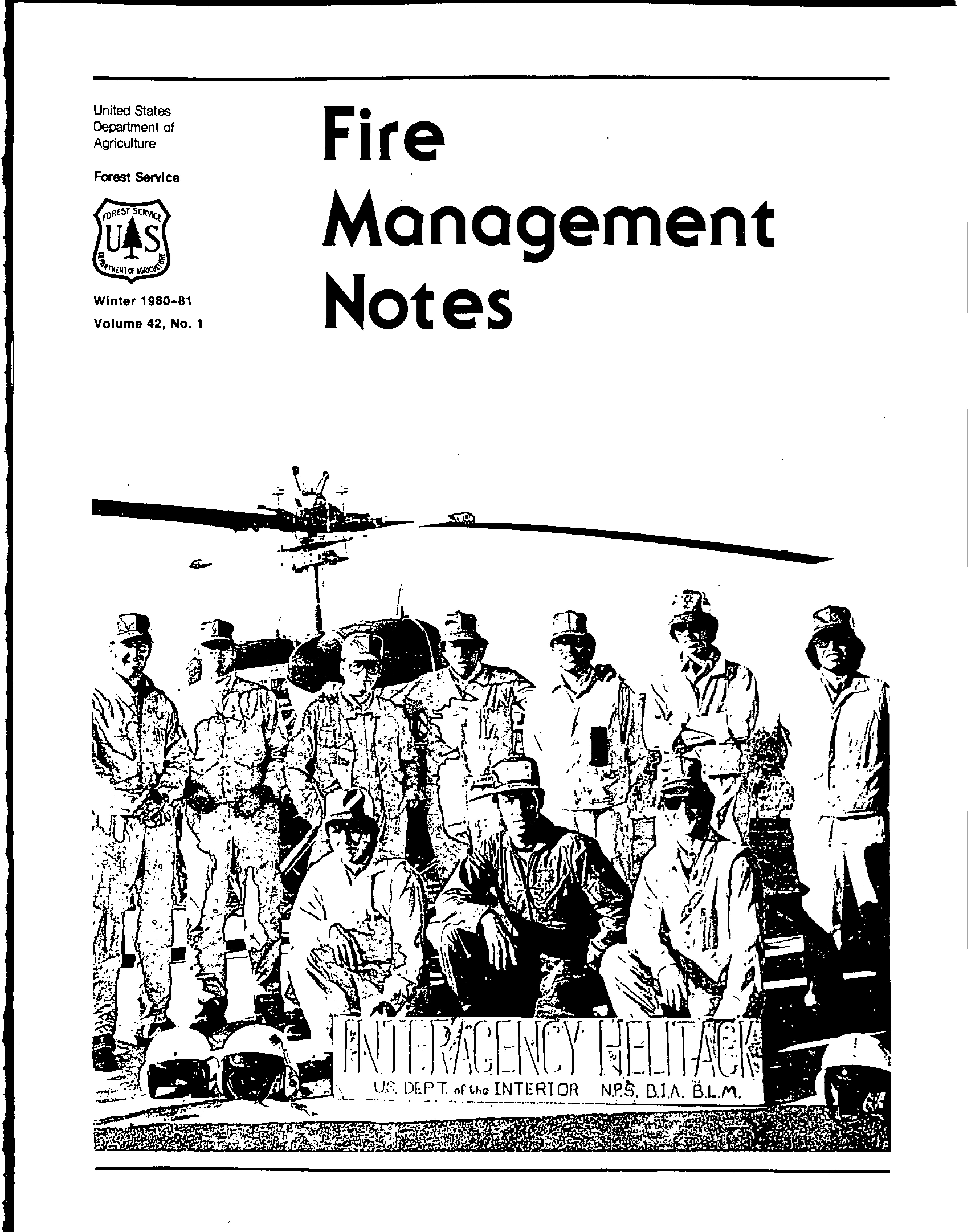 Cover of Fire Management Today Volume 42, Issue 01