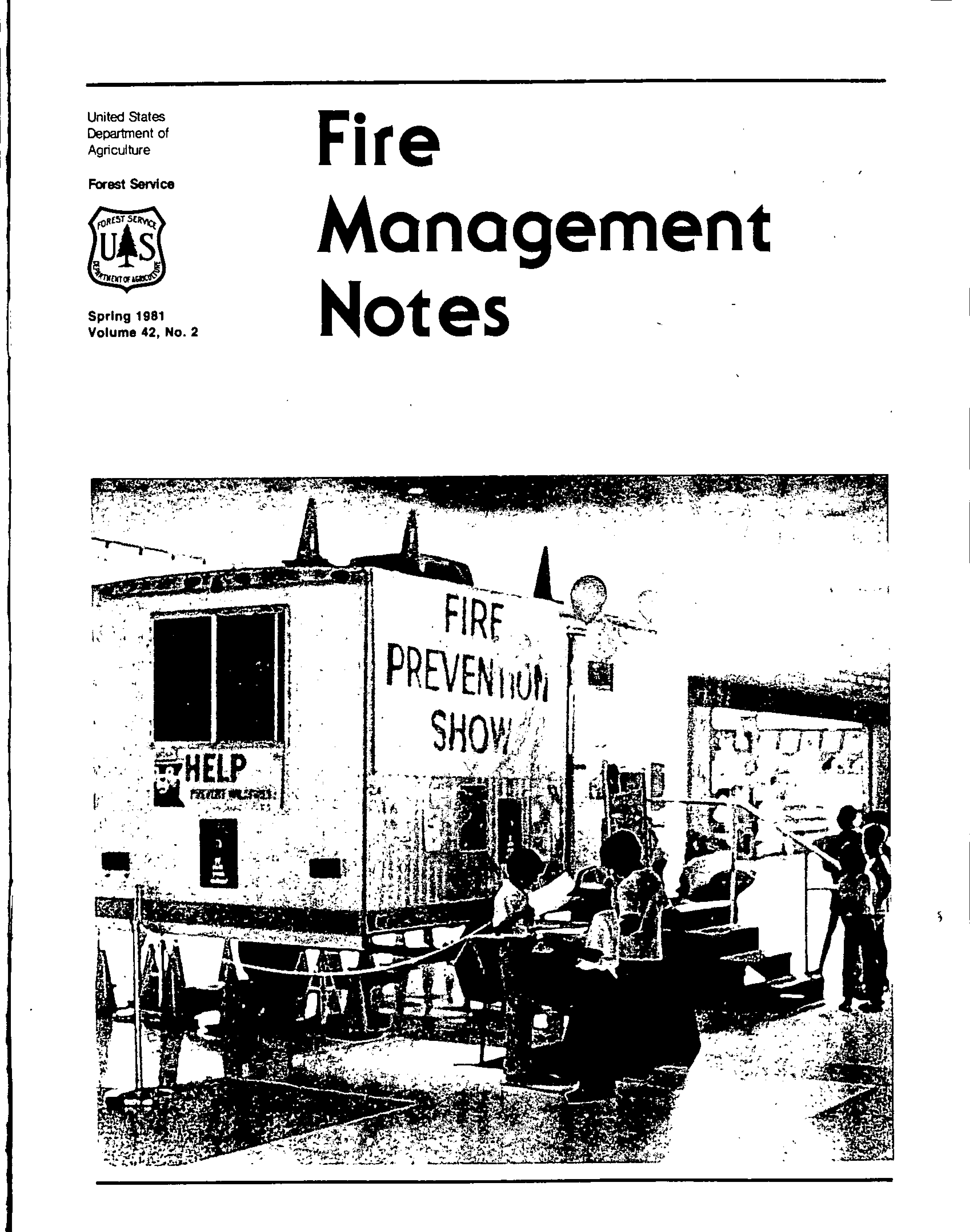 Cover of Fire Management Today Volume 42, Issue 02