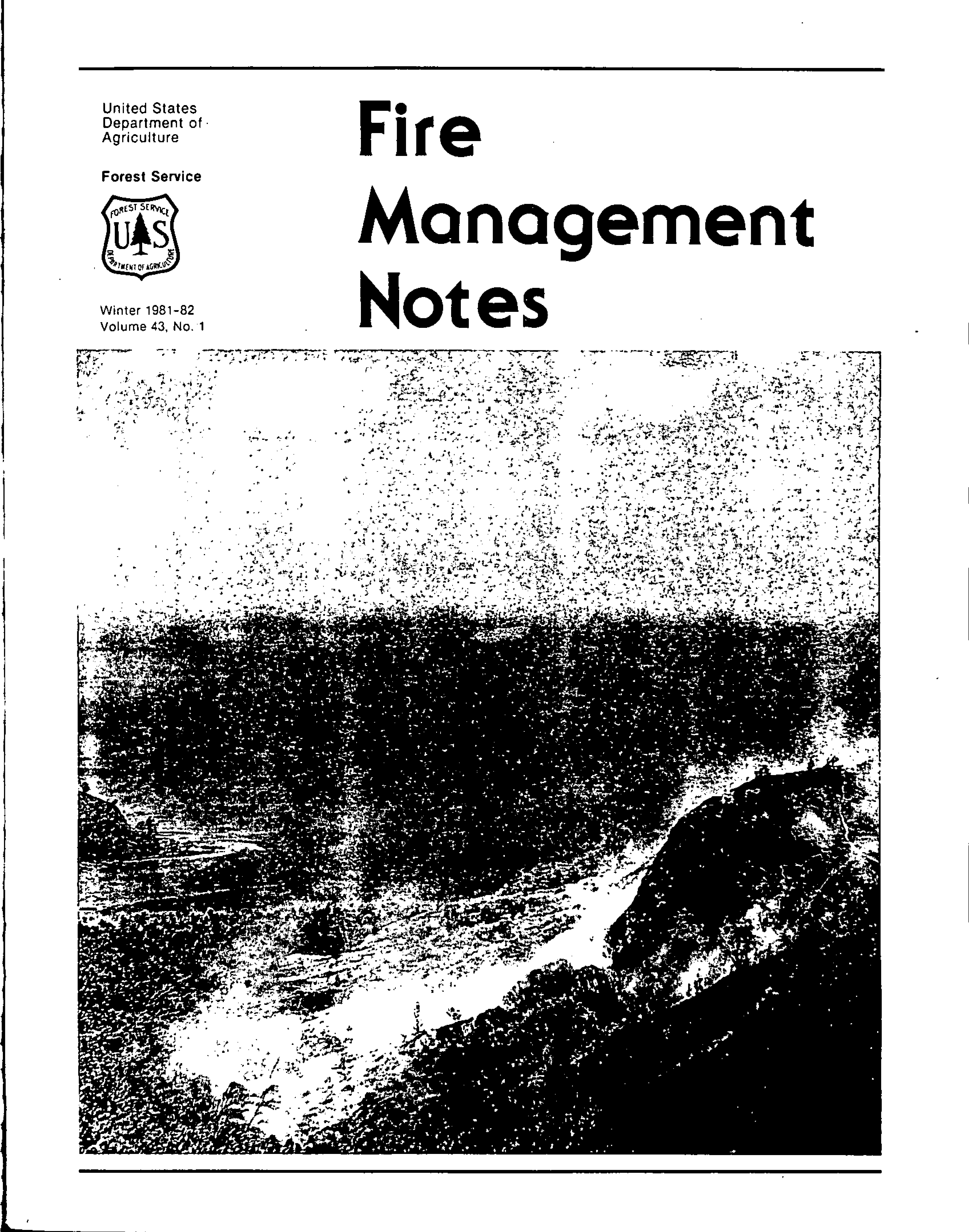 Cover of Fire Management Today Volume 43, Issue 01