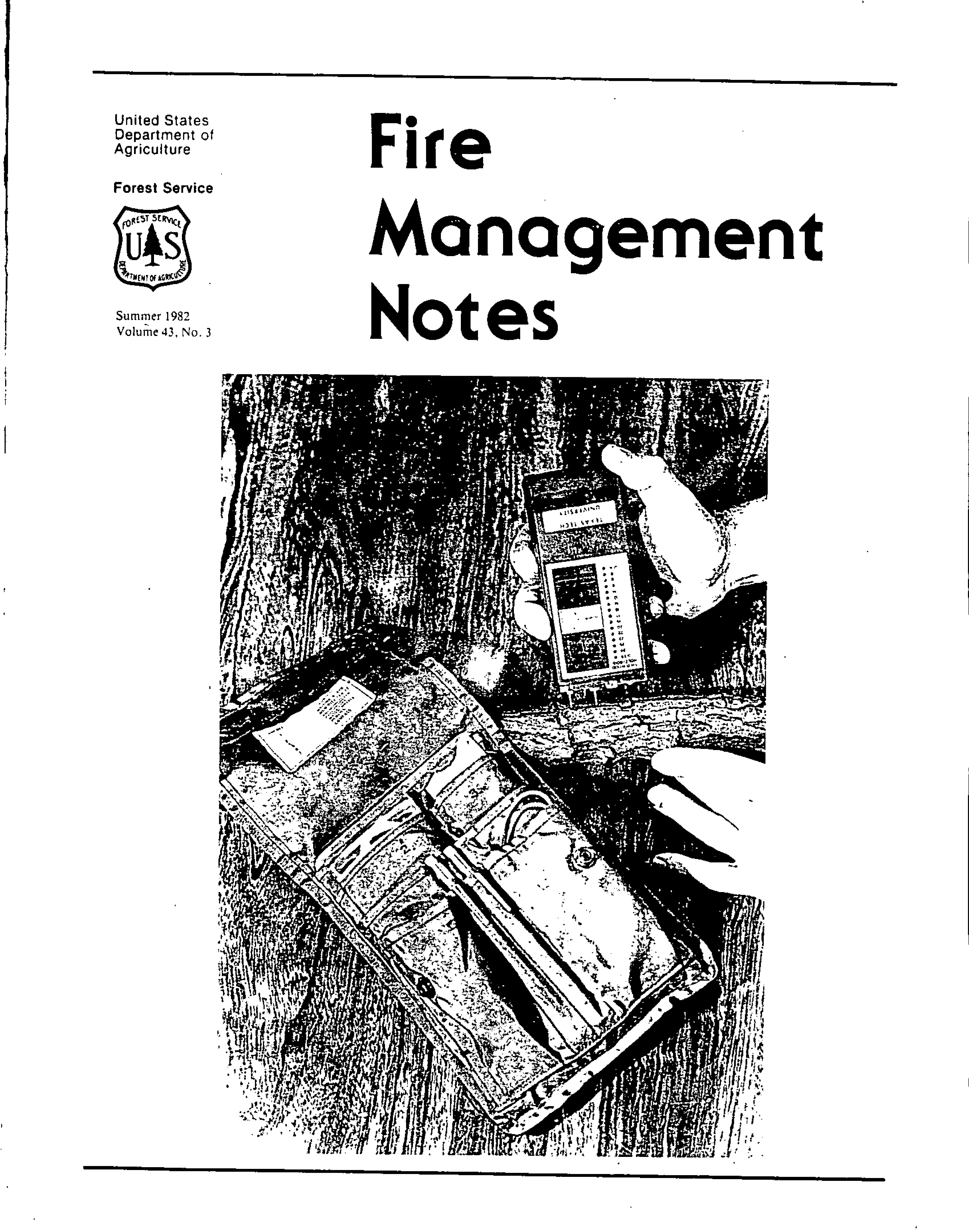 Cover of Fire Management Today Volume 43, Issue 03