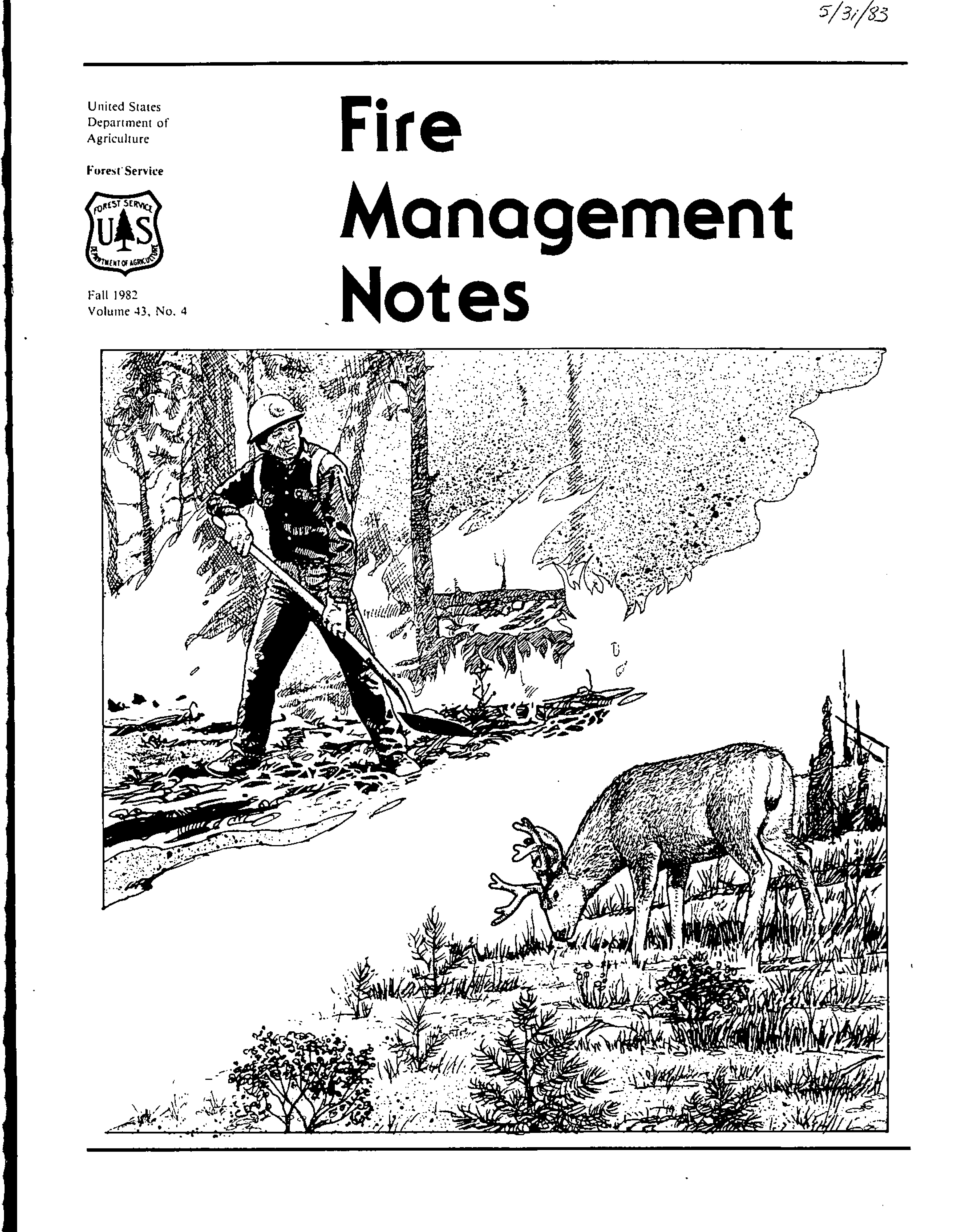 Cover of Fire Management Today Volume 43, Issue 04