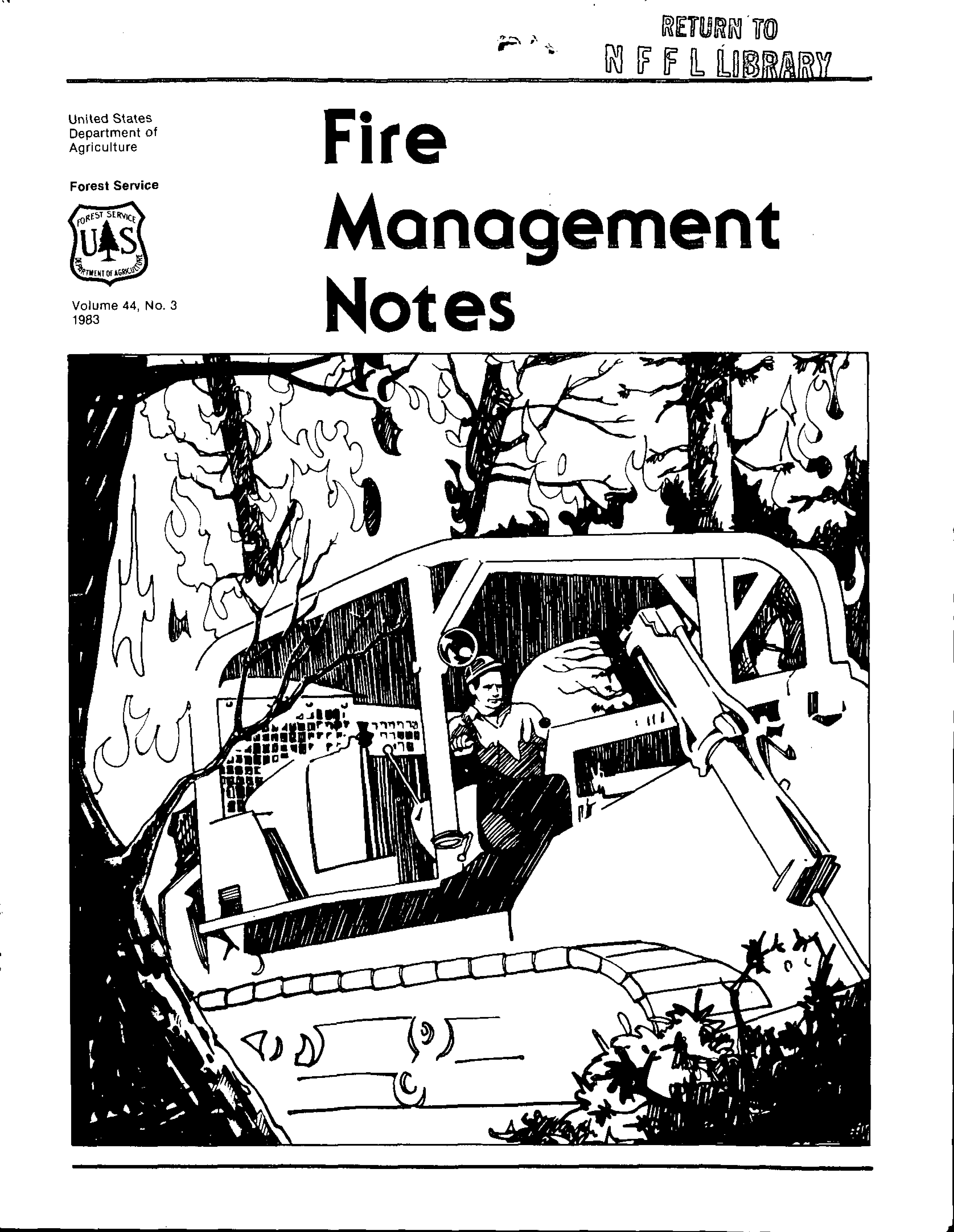 Cover of Fire Management Today Volume 44, Issue 03