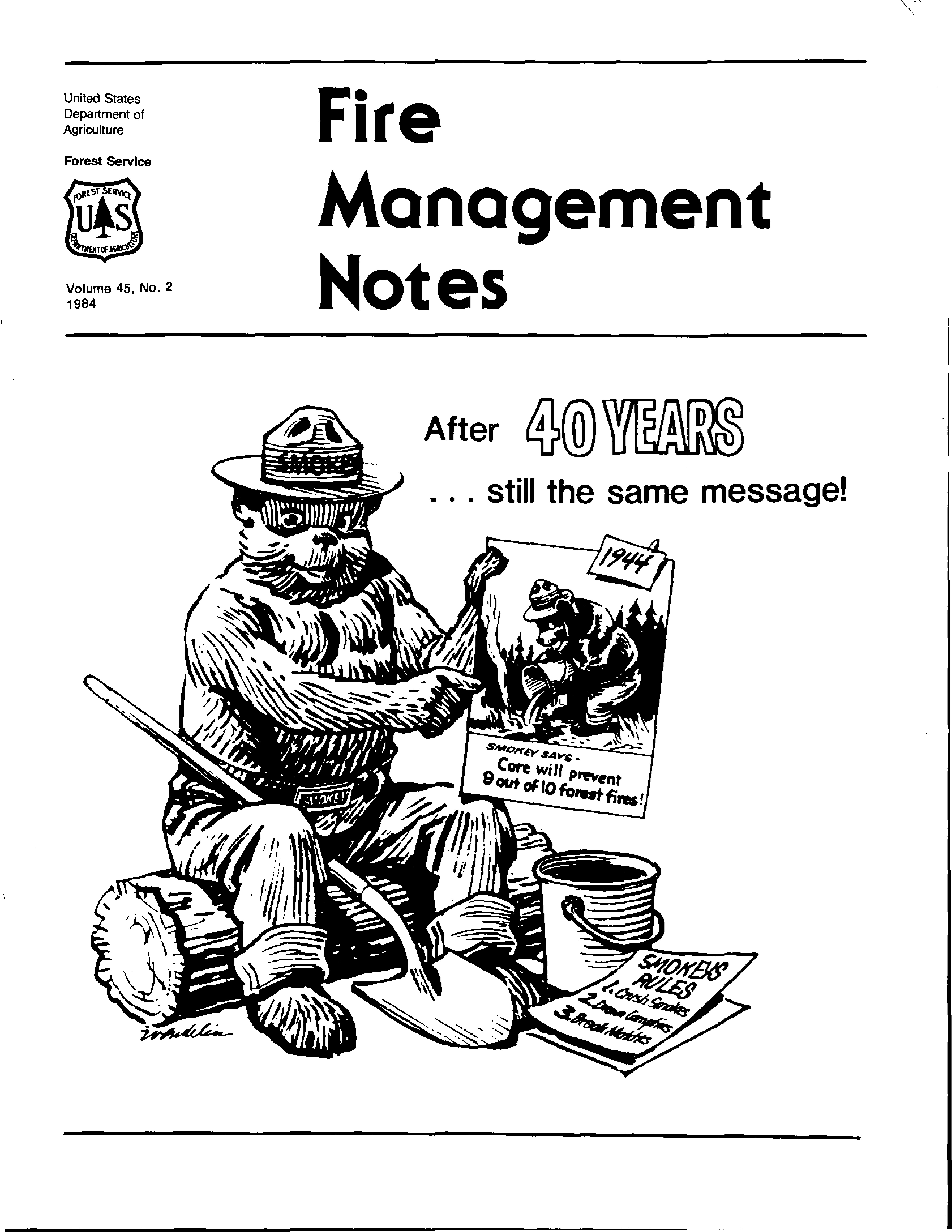 Cover of Fire Management Today Volume 45, Issue 02