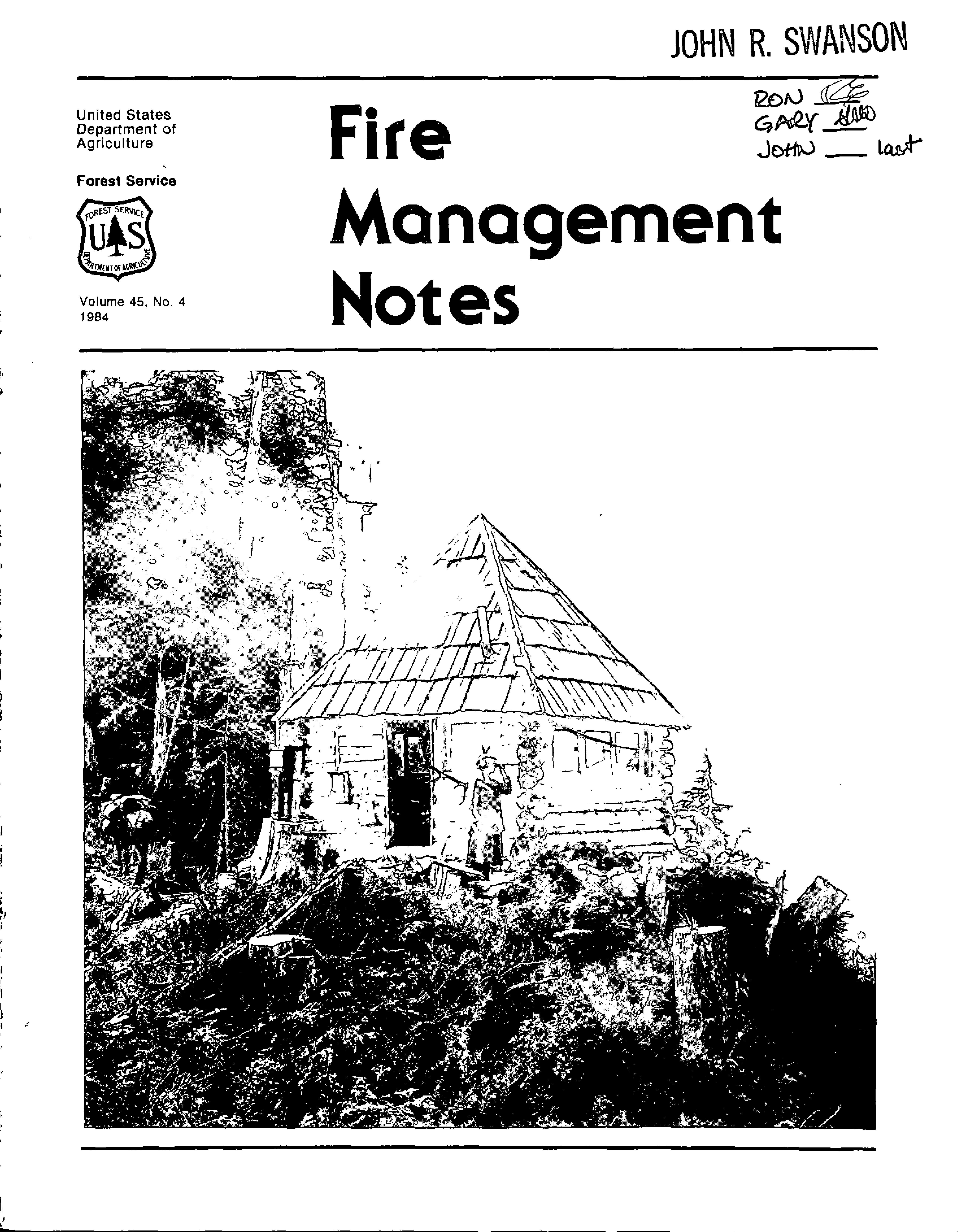 Cover of Fire Management Today Volume 45, Issue 04