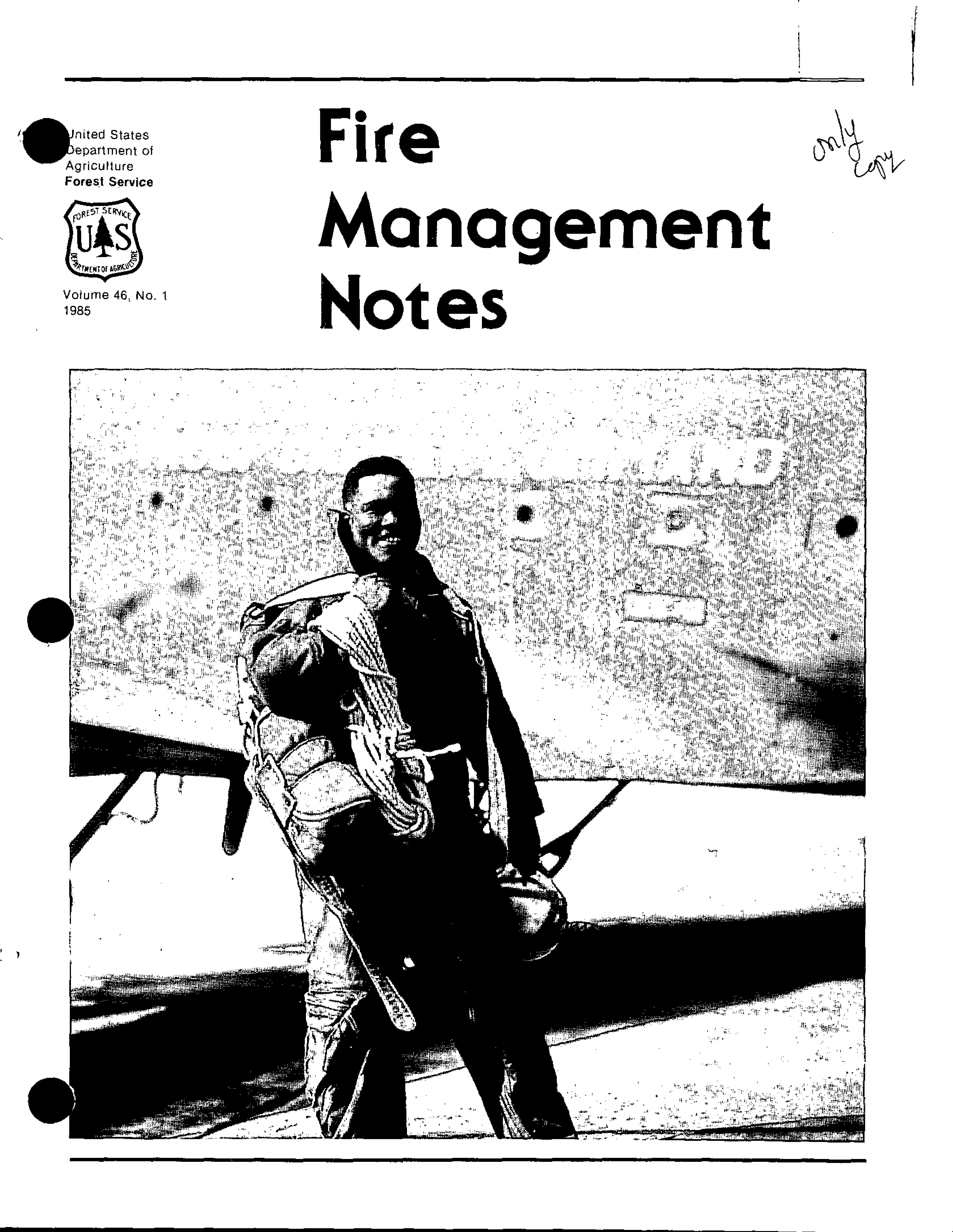 Cover of Fire Management Today Volume 46, Issue 01