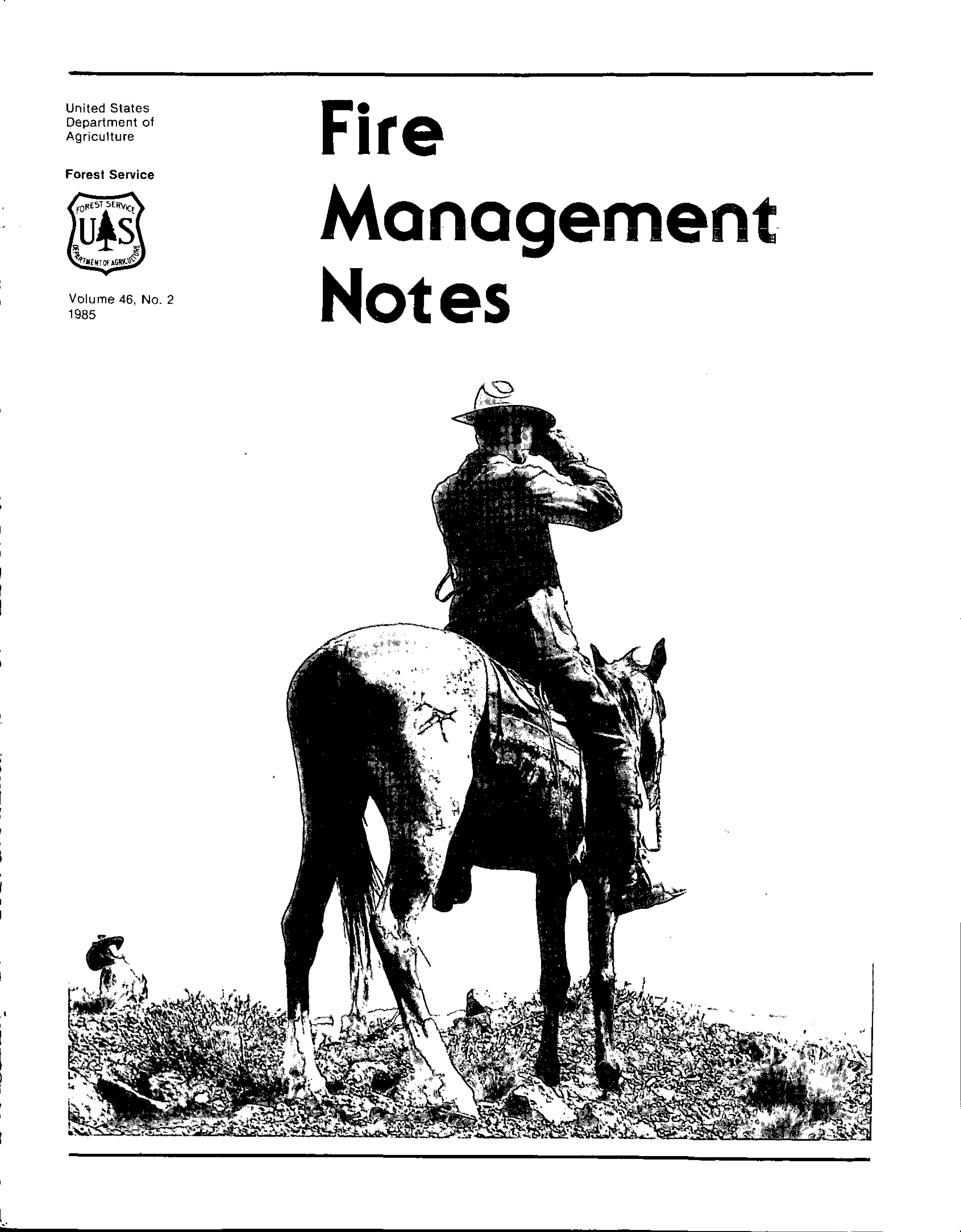 Cover of Fire Management Today Volume 46, Issue 02