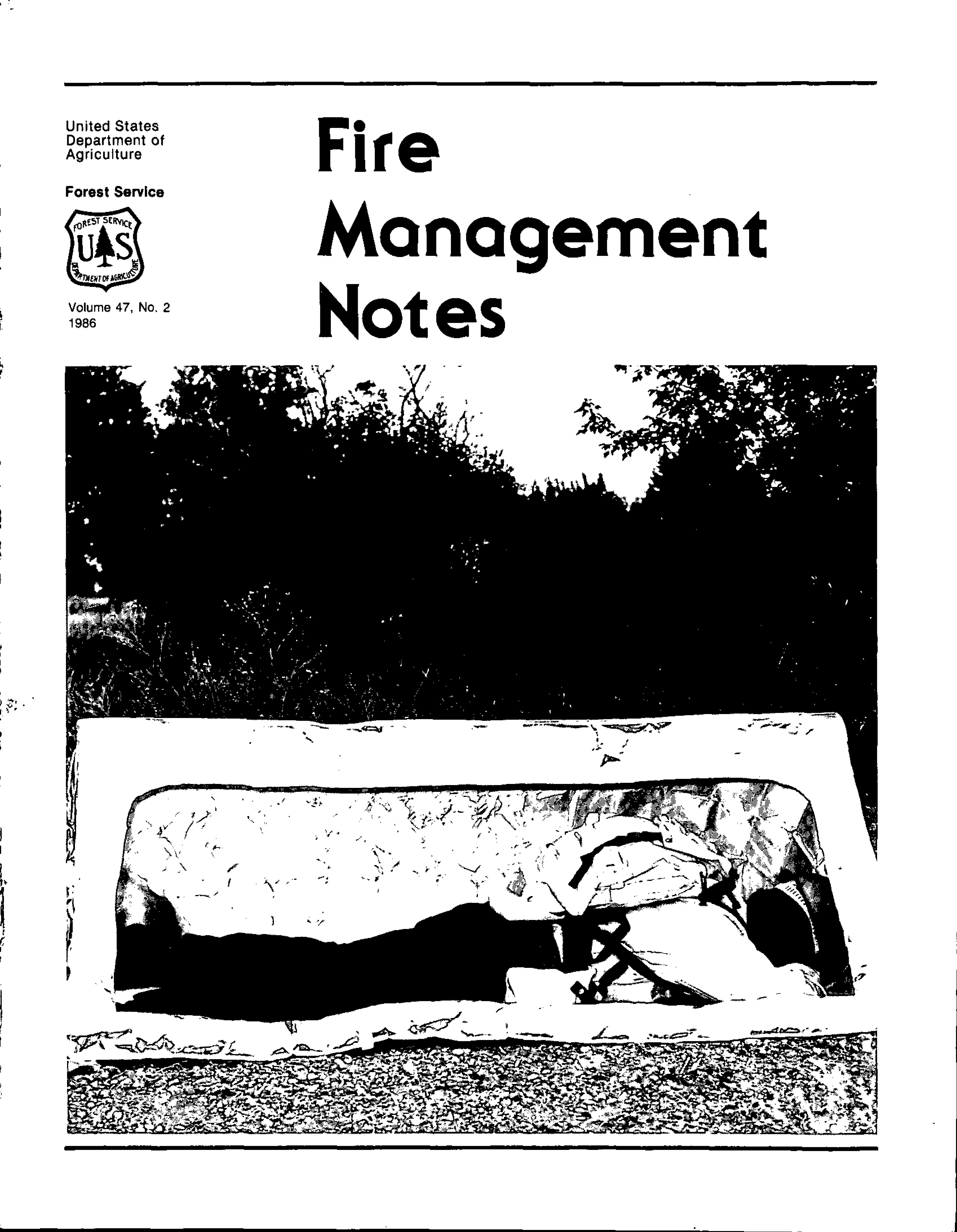 Cover of Fire Management Today Volume 47, Issue 02