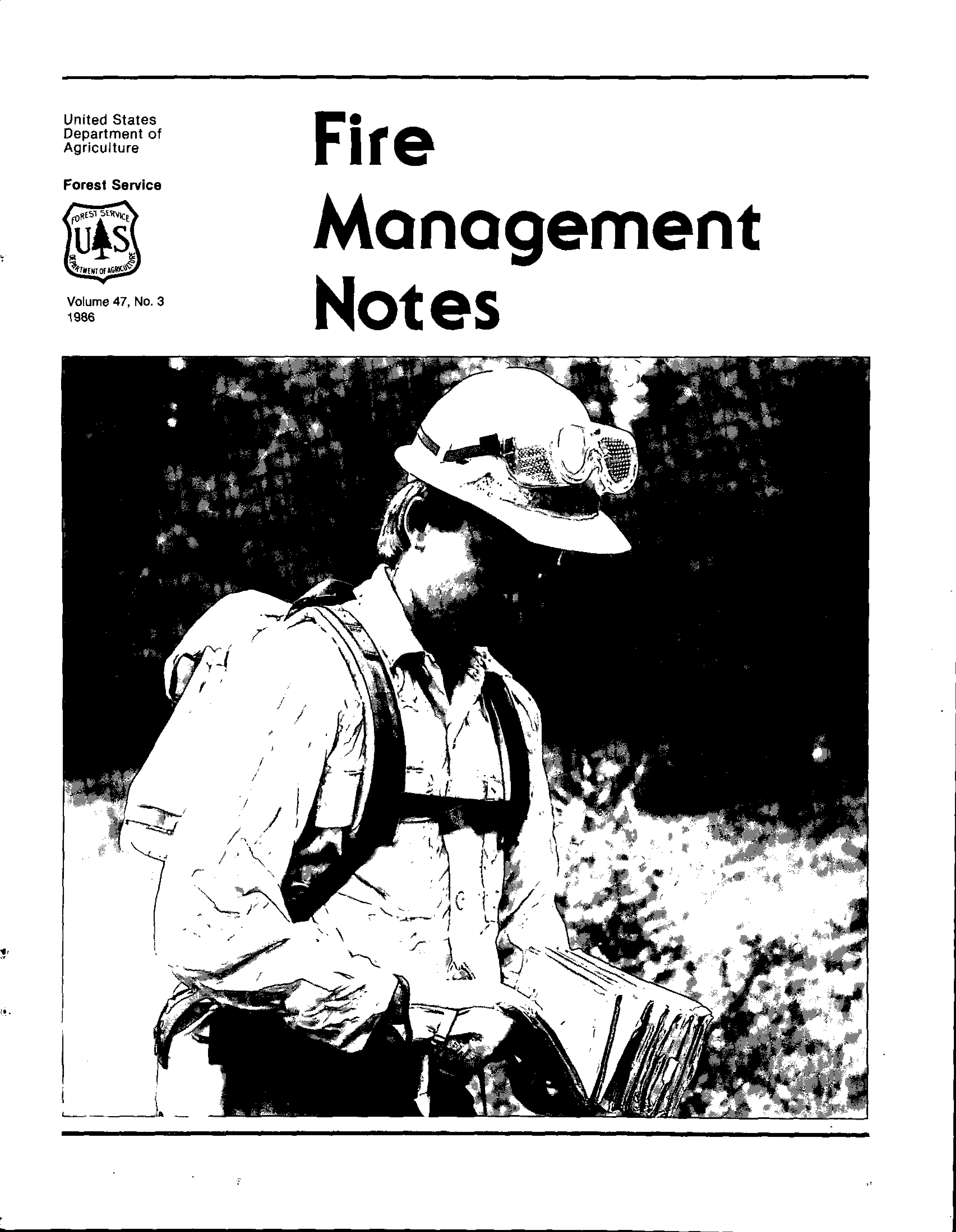 Cover of Fire Management Today Volume 47, Issue 03
