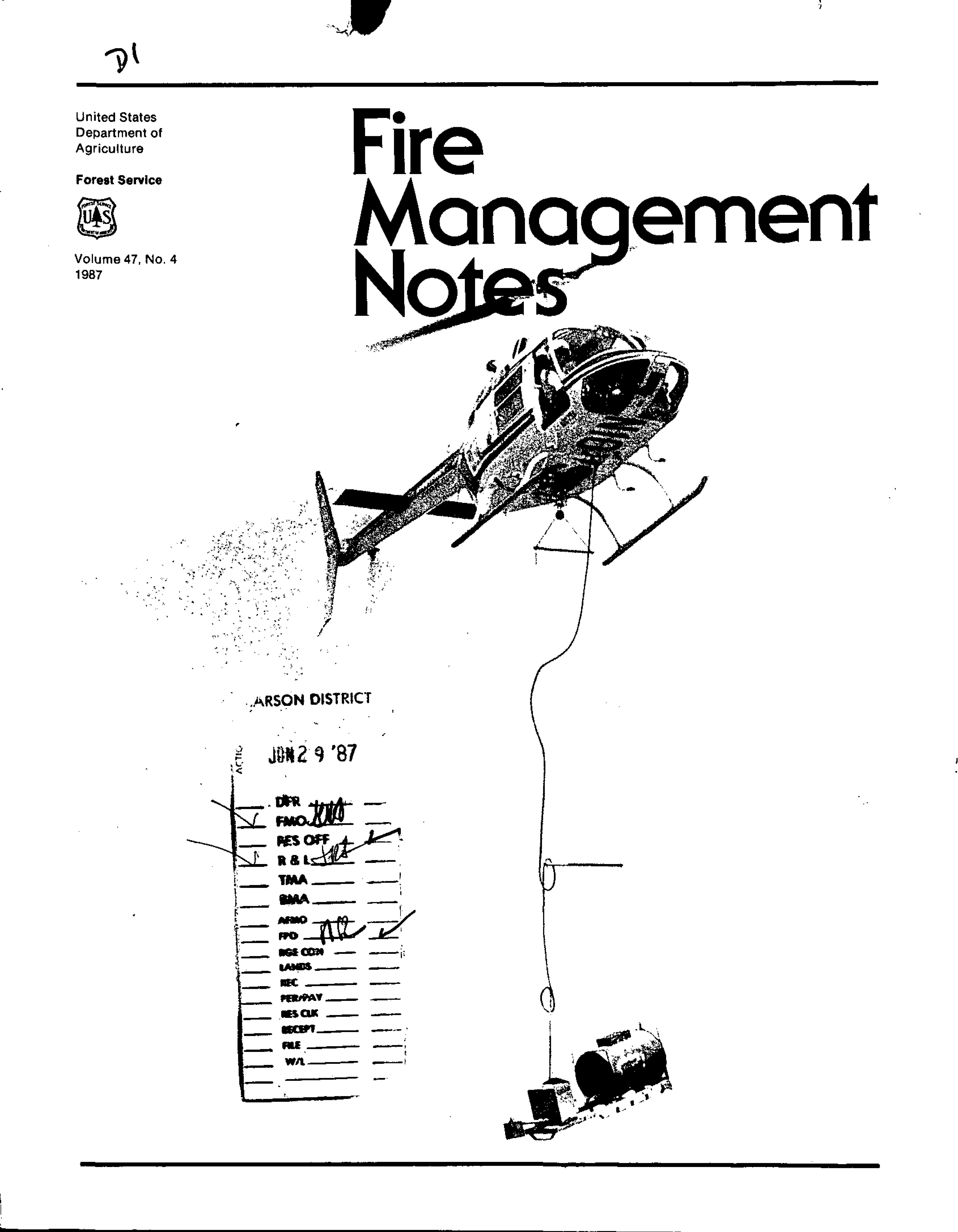 Cover of Fire Management Today Volume 47, Issue 04