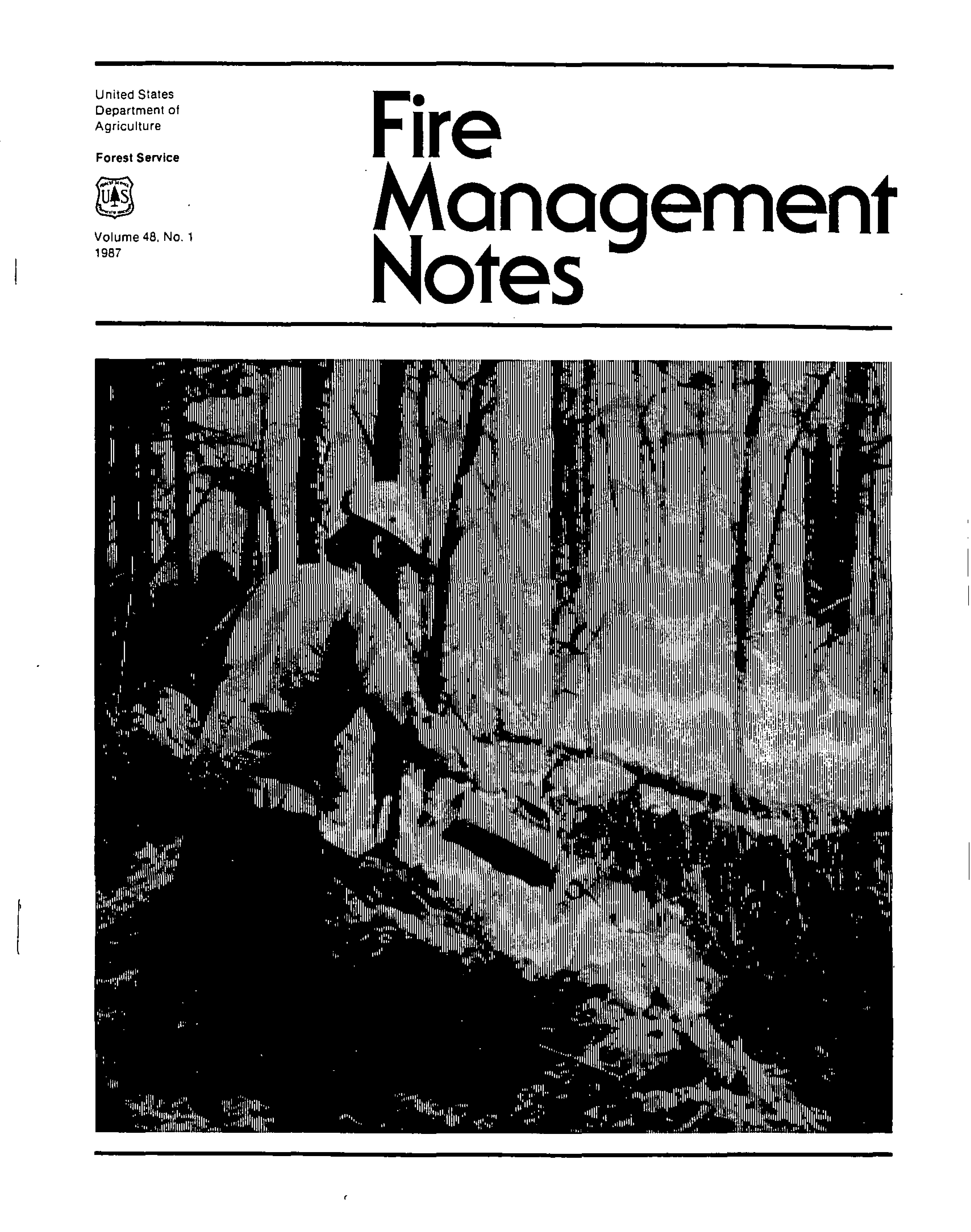 Cover of Fire Management Today Volume 48, Issue 01
