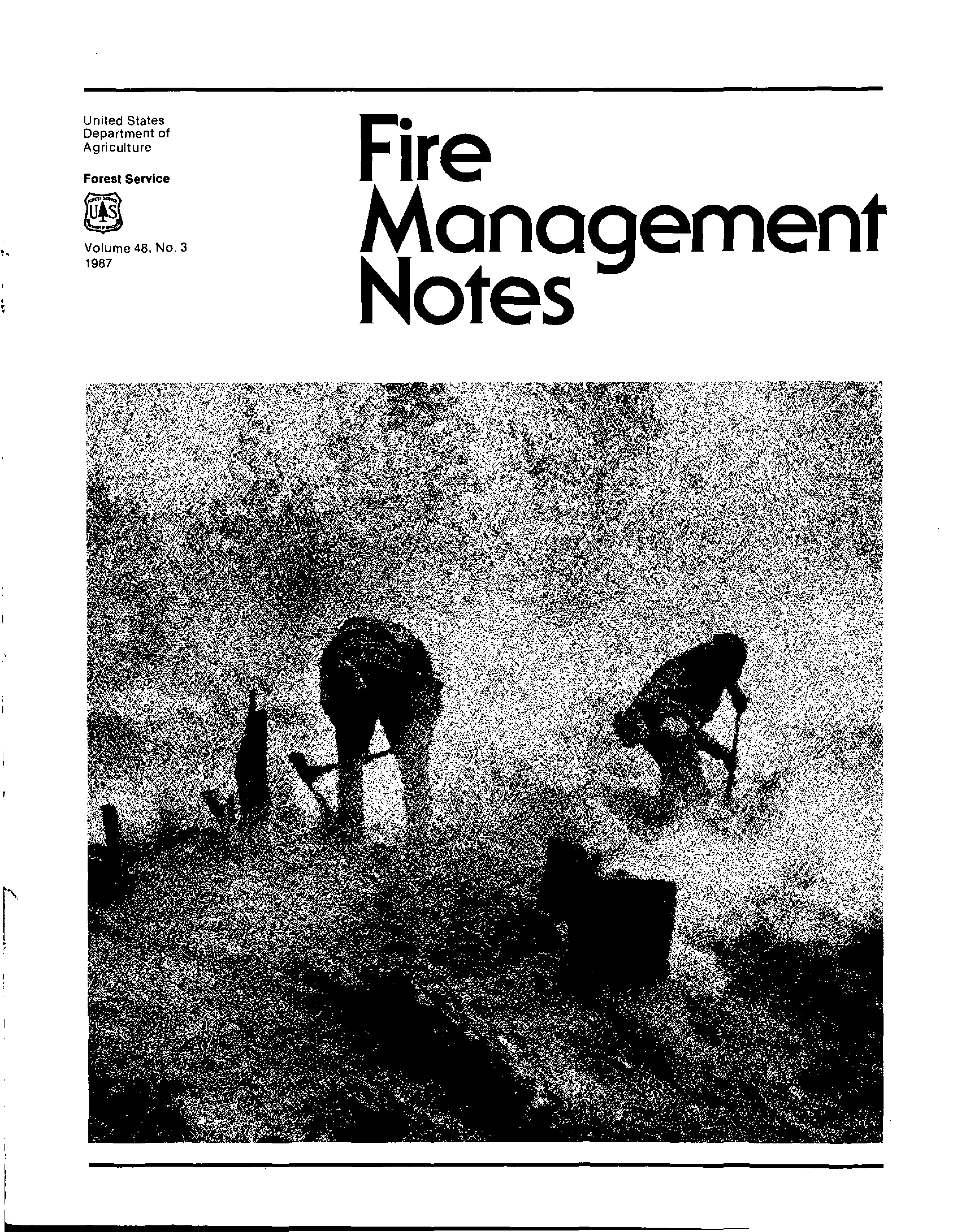 Cover of Fire Management Today Volume 48, Issue 03