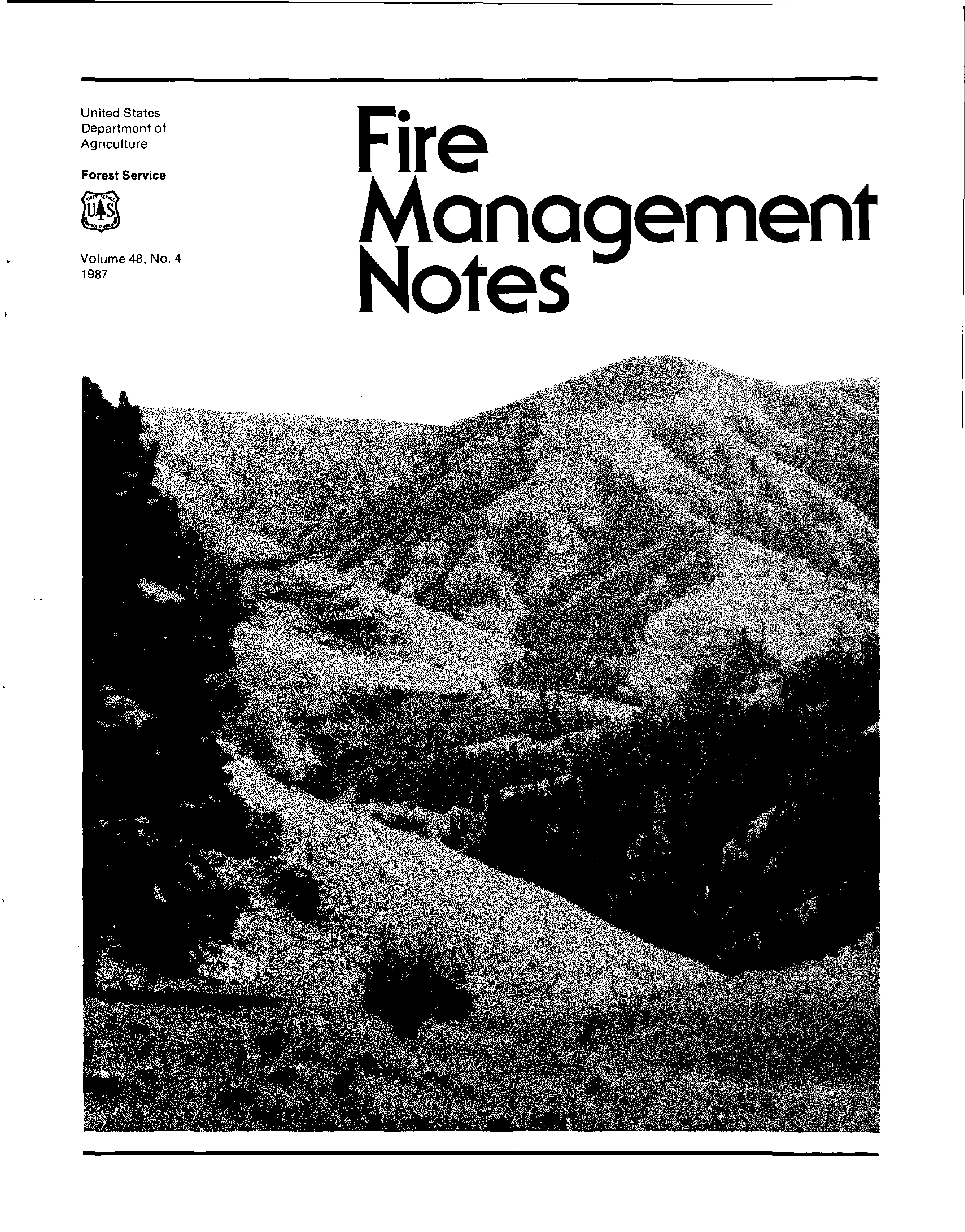 Cover of Fire Management Today Volume 48, Issue 04