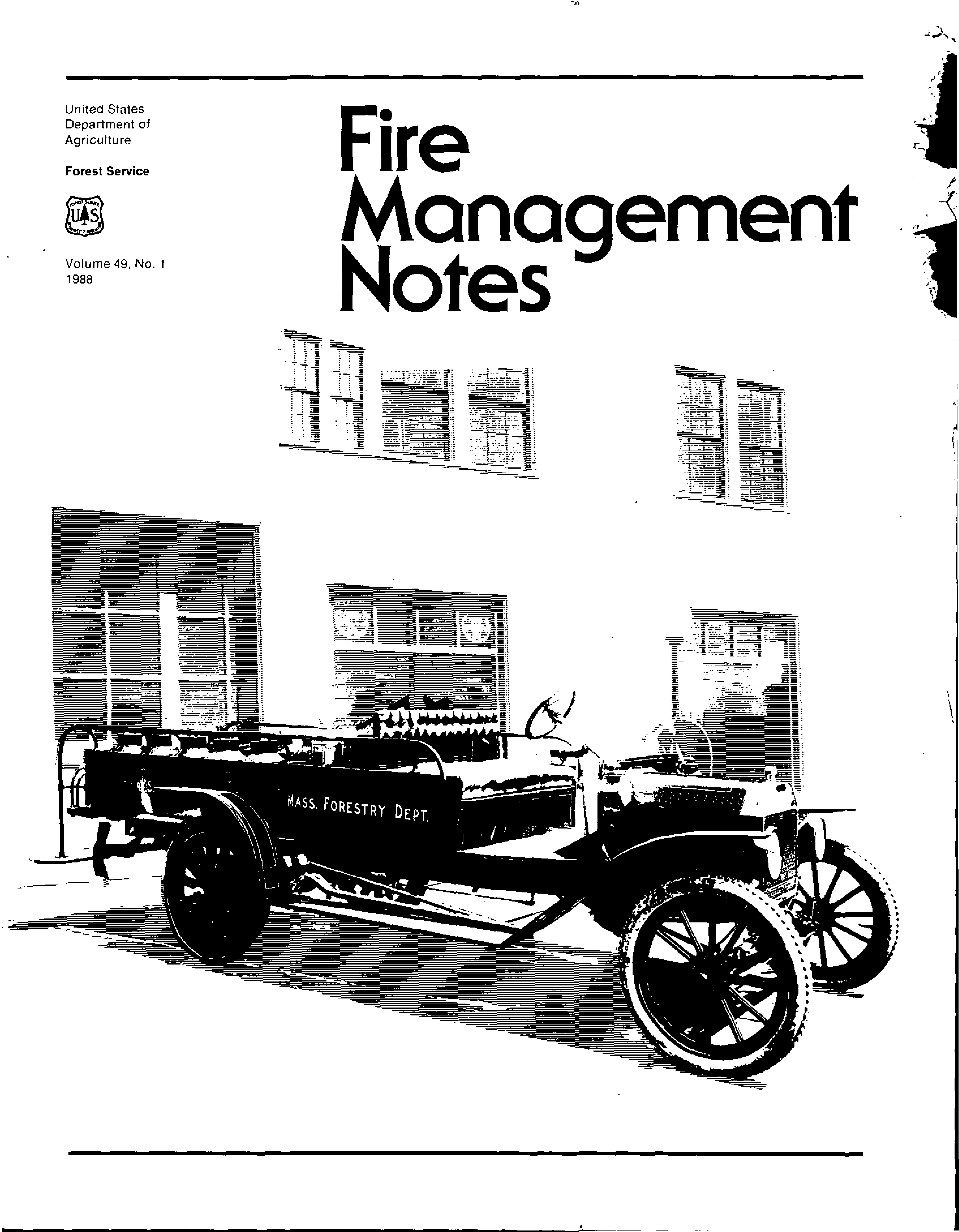 Cover of Fire Management Today Volume 49, Issue 01