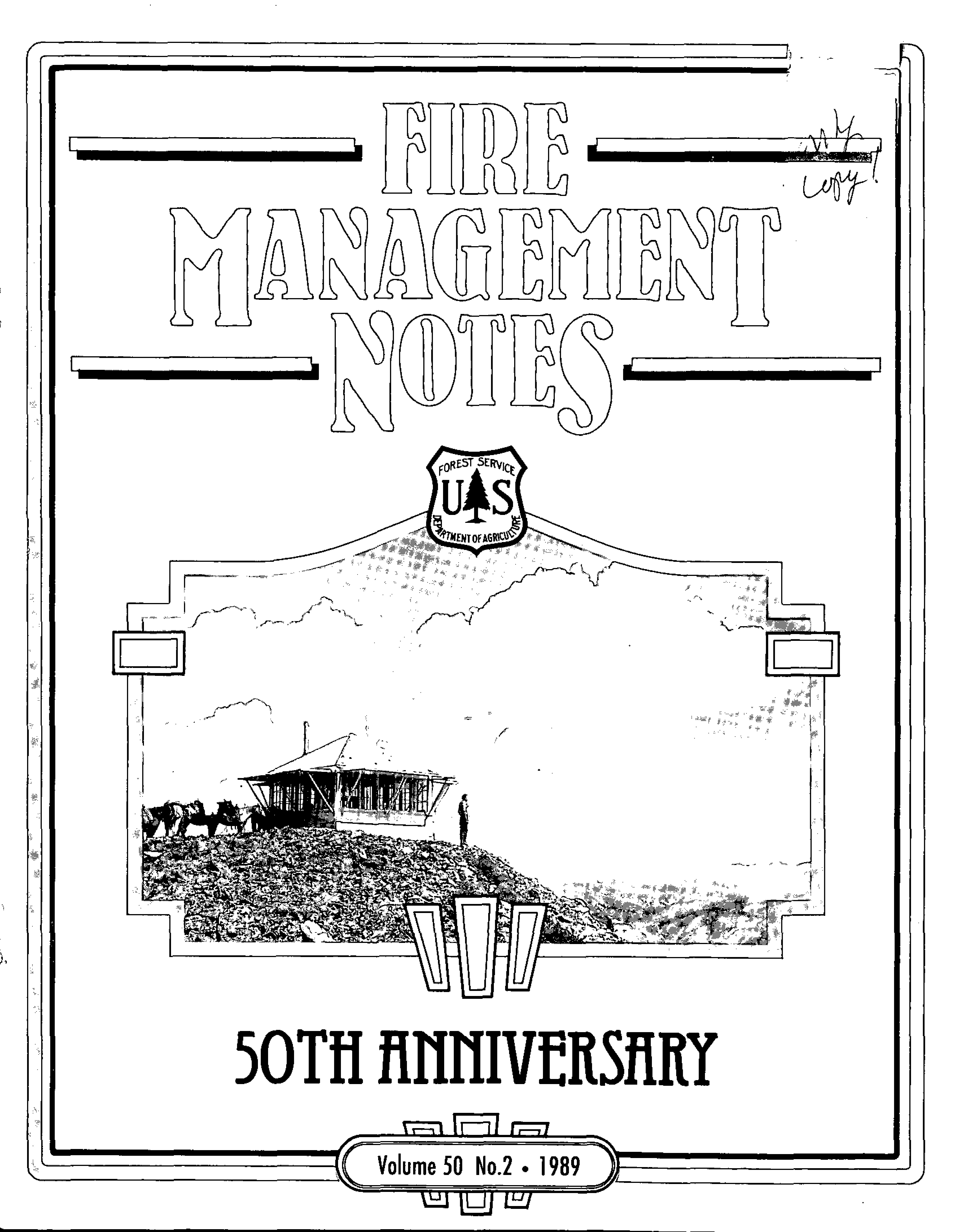 Cover of Fire Management Today Volume 50, Issue 02