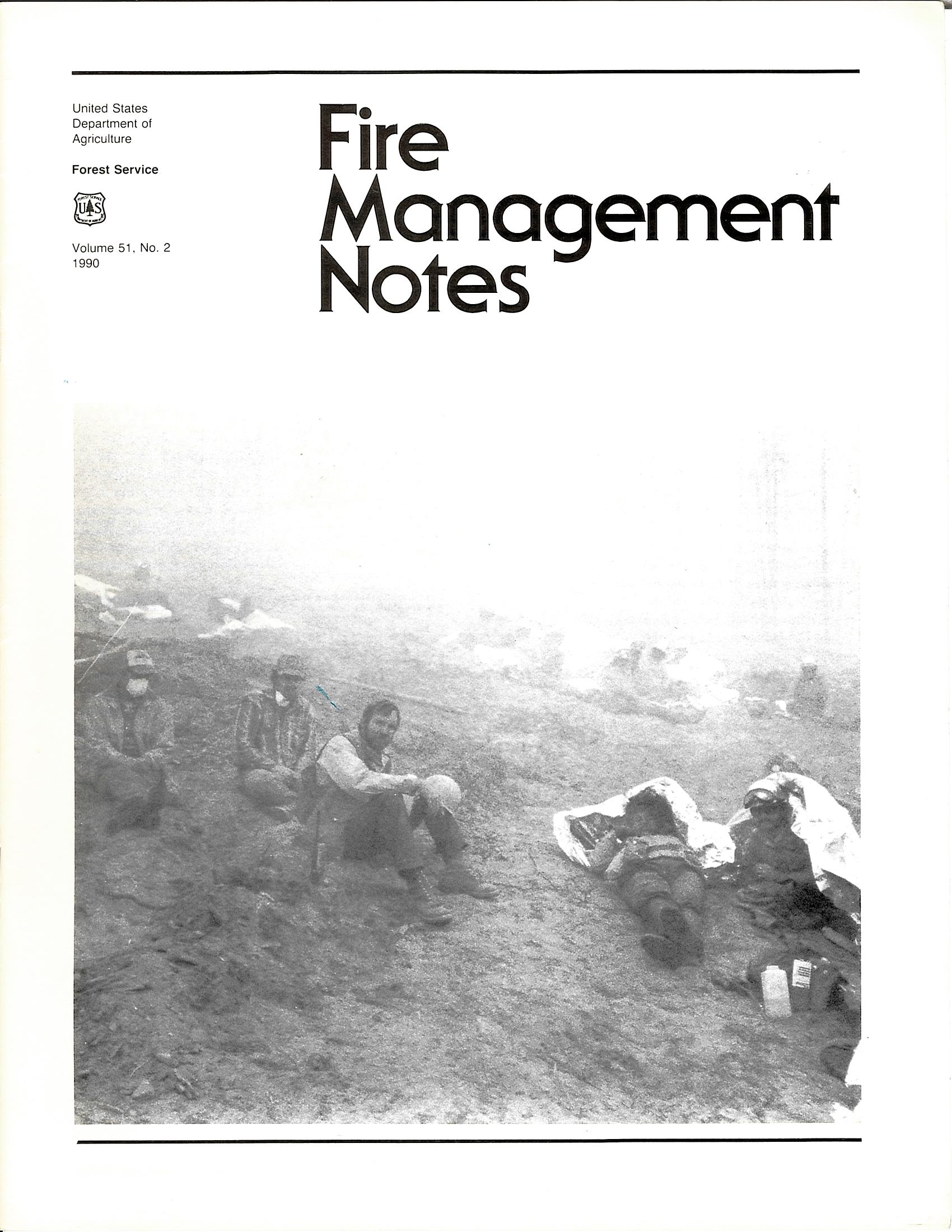 Cover of Fire Management Today Volume 51, Issue 02