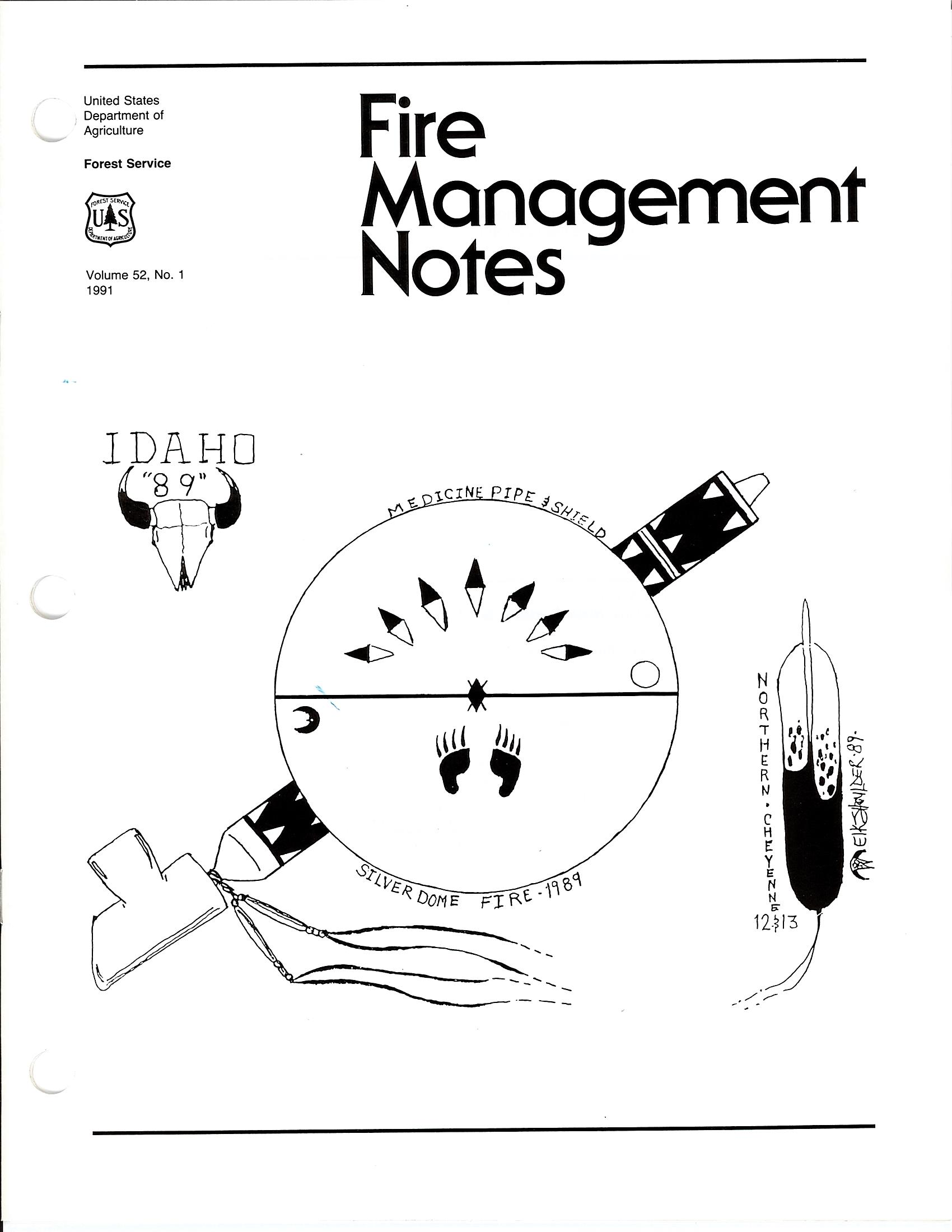 Cover of Fire Management Today Volume 52, Issue 01