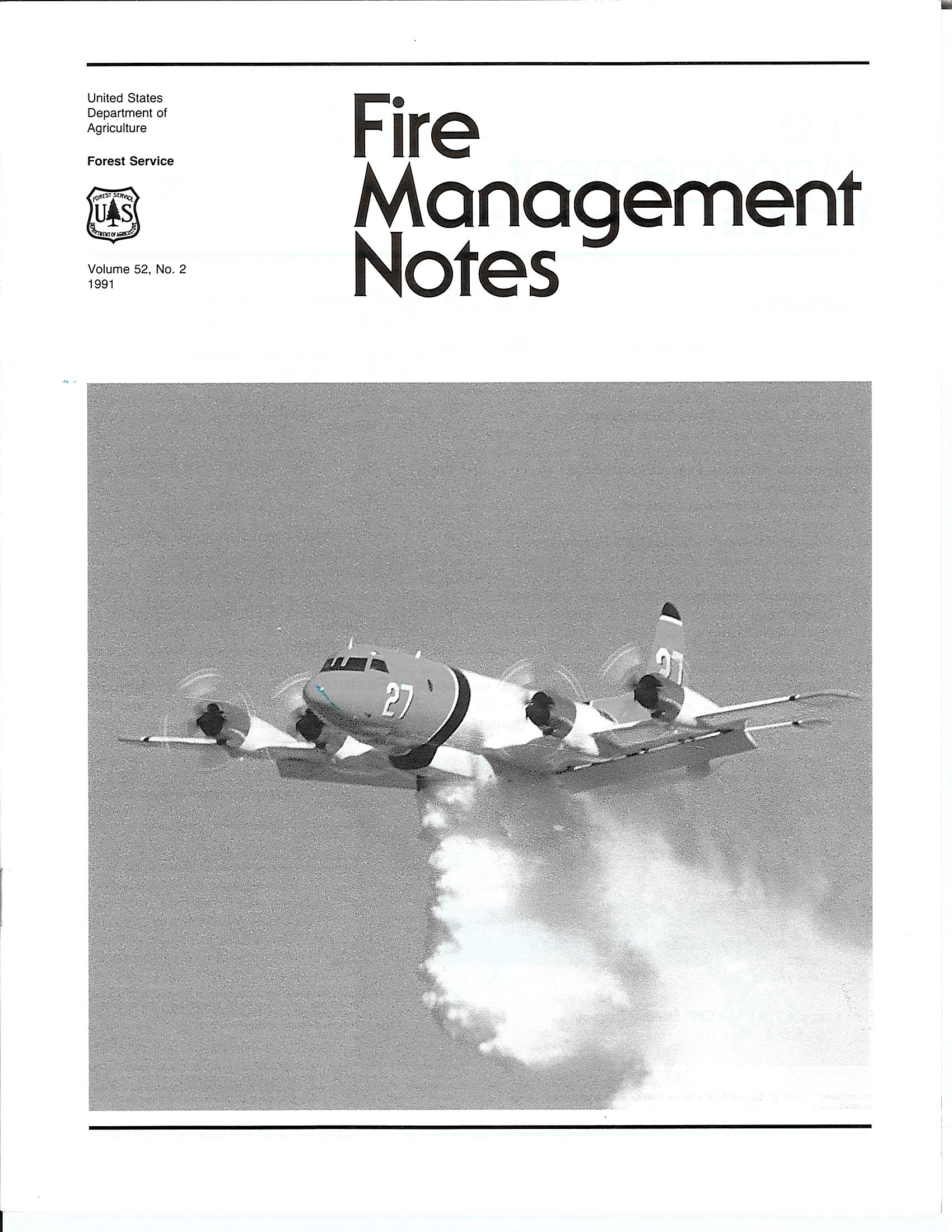 Cover of Fire Management Today Volume 52, Issue 02