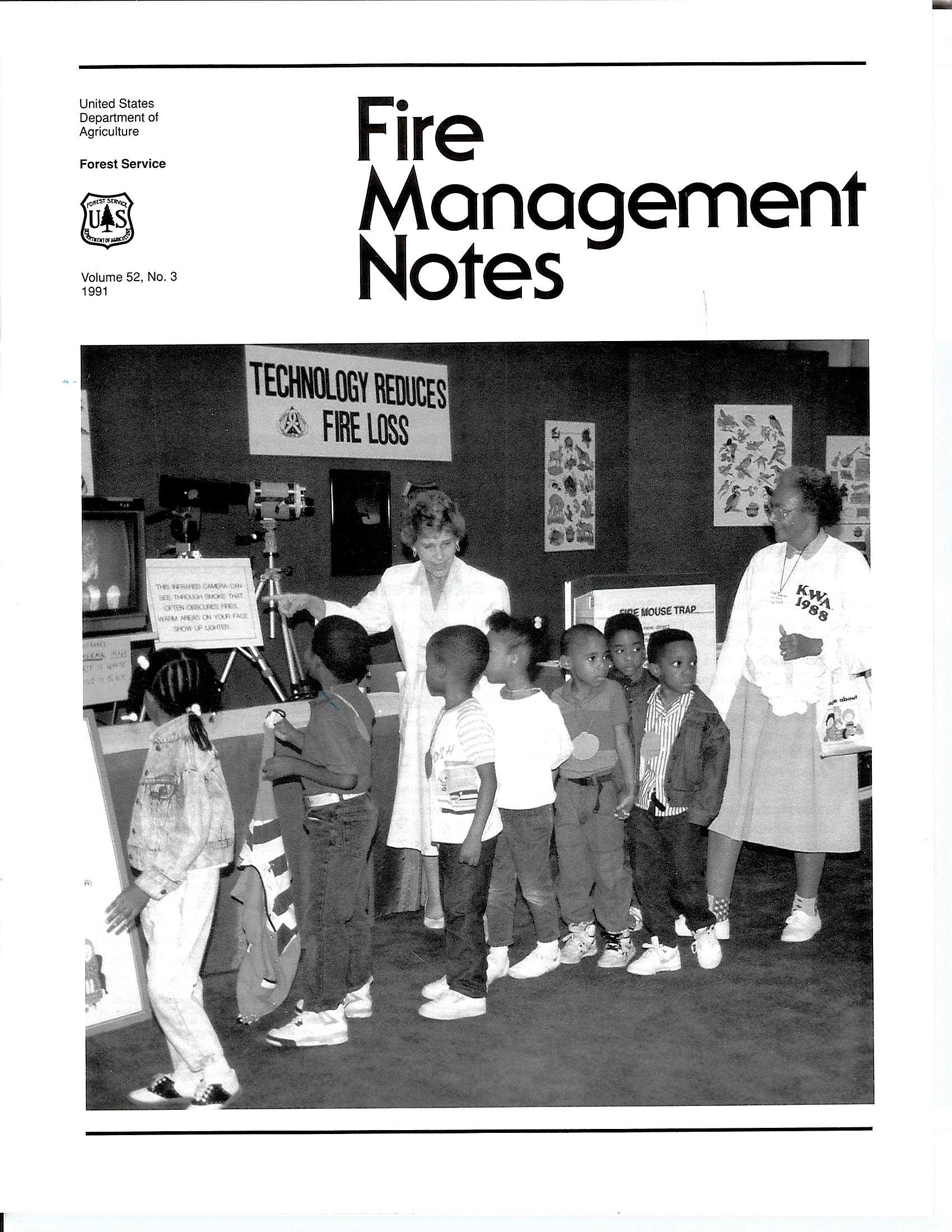 Cover of Fire Management Today Volume 52, Issue 03